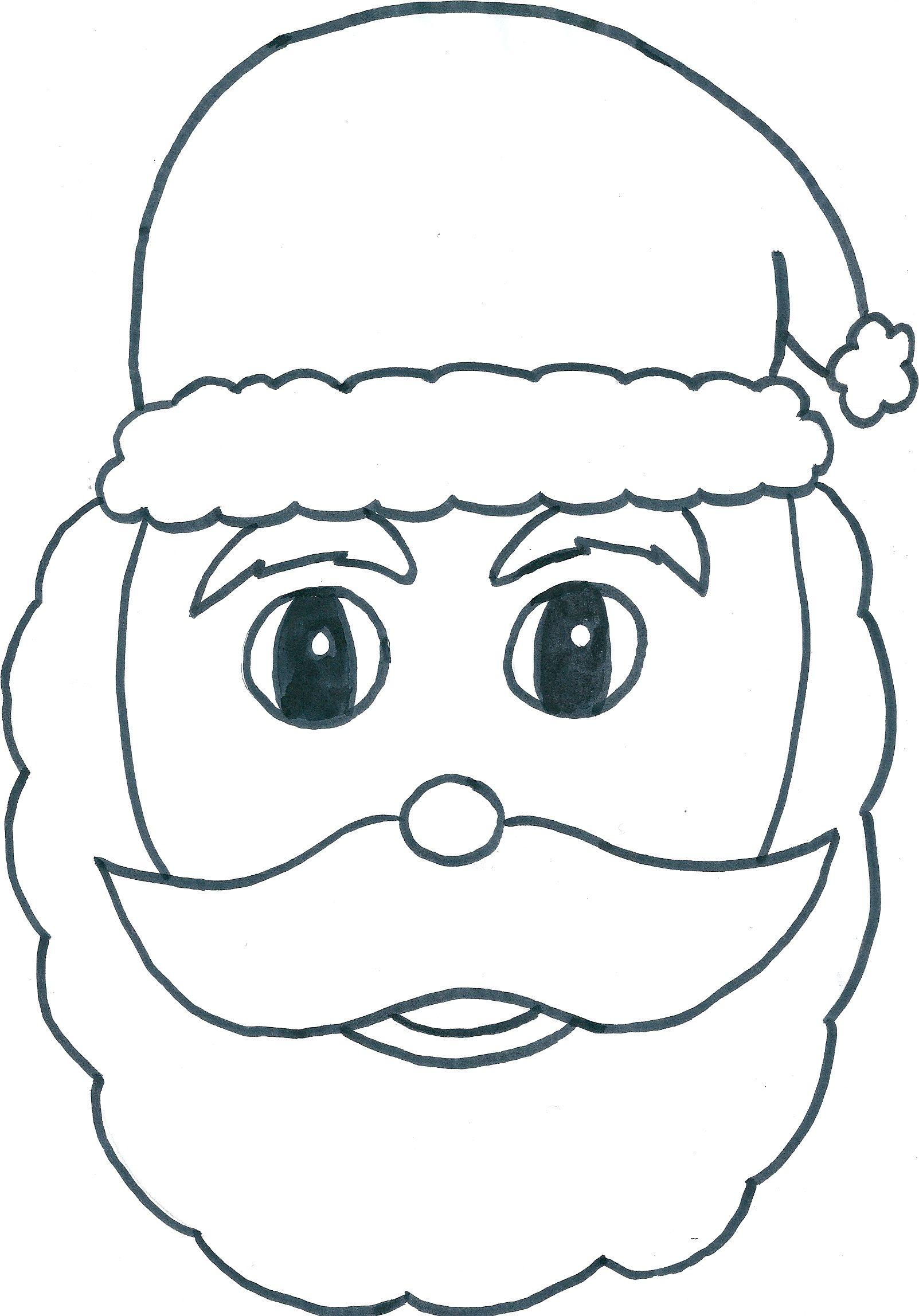 Masque Père Noël tout Pere Noel A Imprimer Et A Decouper