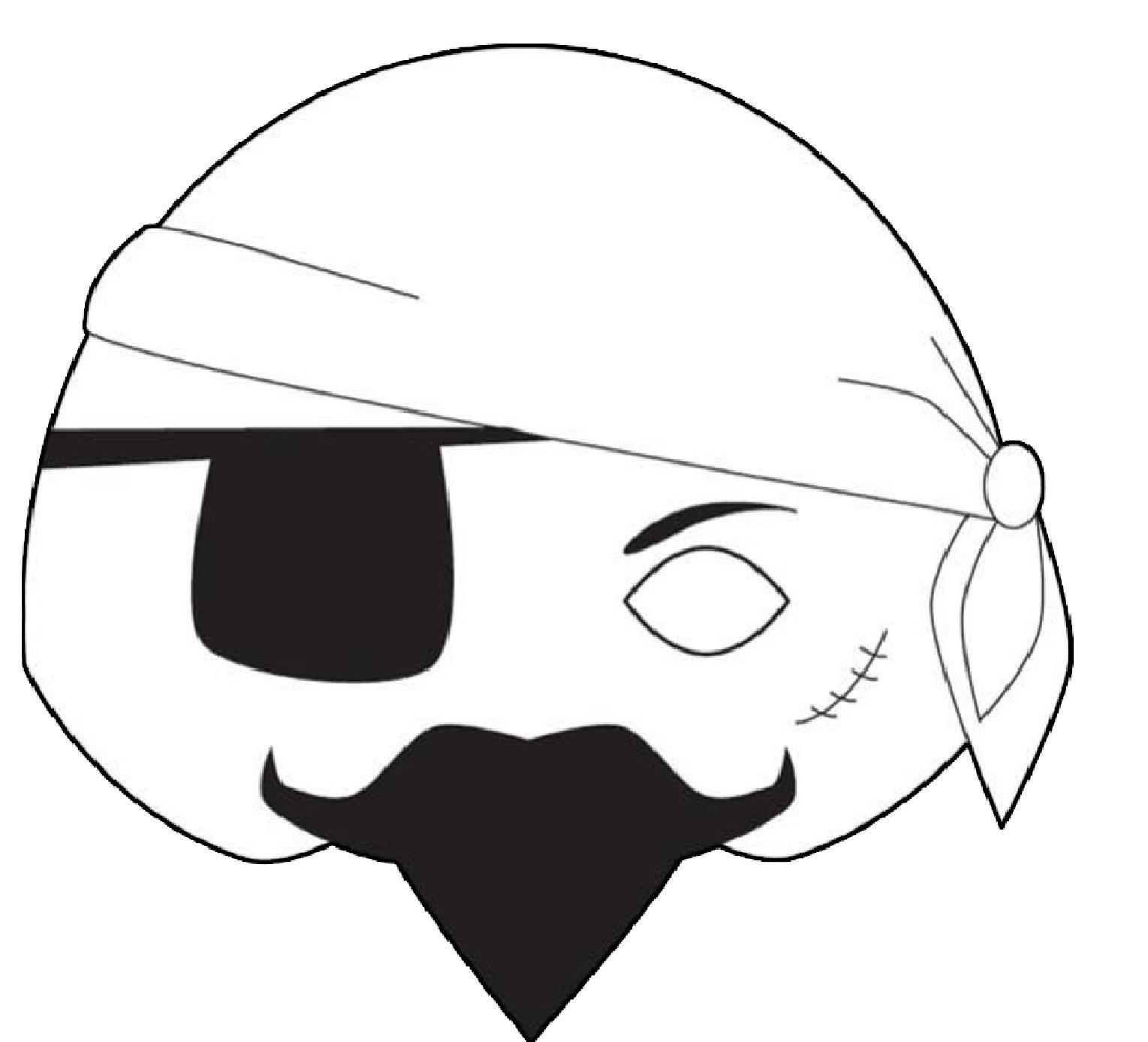 Masque Pirate A Colorier Découpage A Imprimer destiné Masque Enfant A Colorier