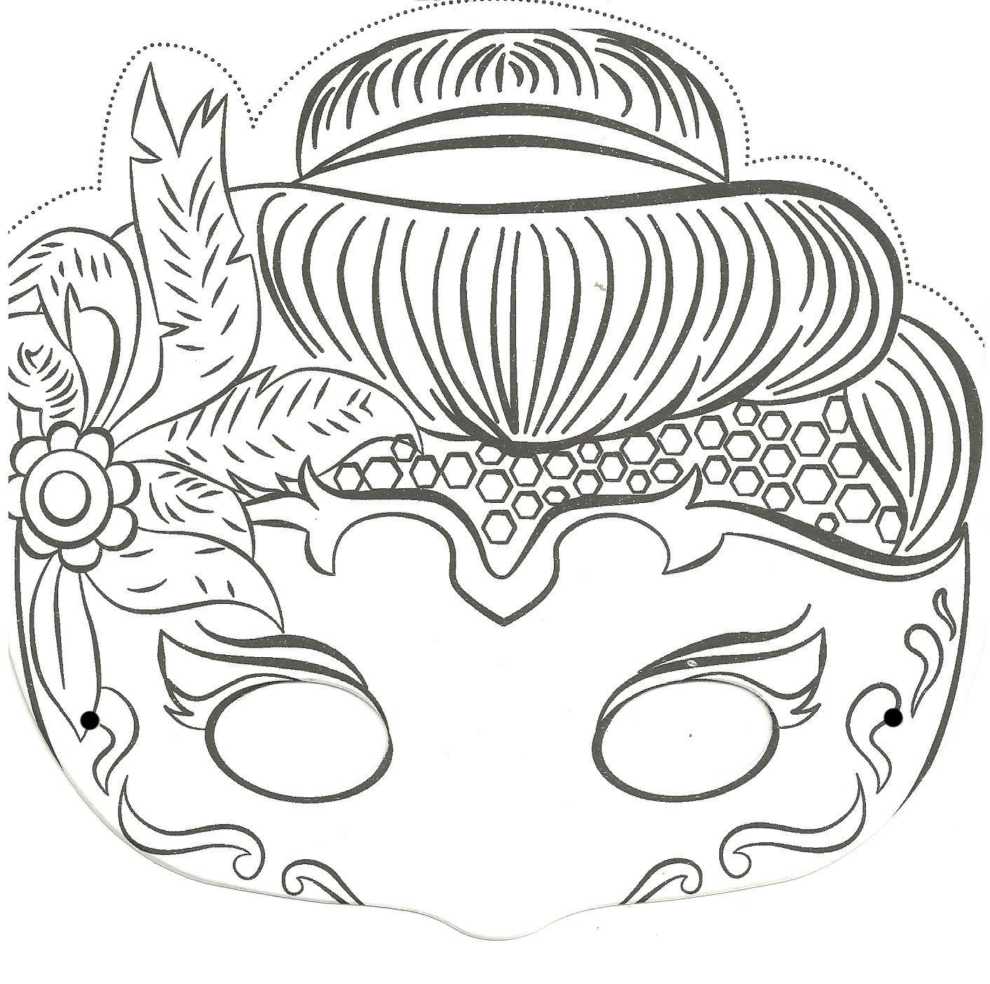 Masque Pour Enfant: Une Princesse À Imprimer Et À Colorier A dedans Masque Enfant A Colorier