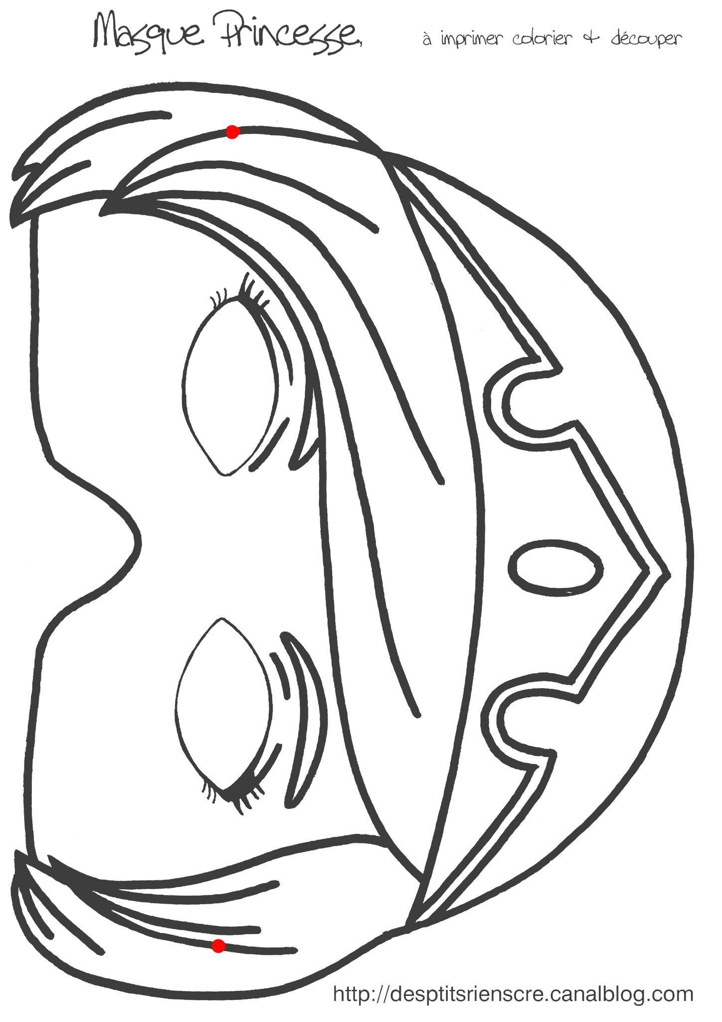 Masque Princesse À Imprimer | Masque, Masque A Imprimer Et intérieur Masque Enfant A Colorier