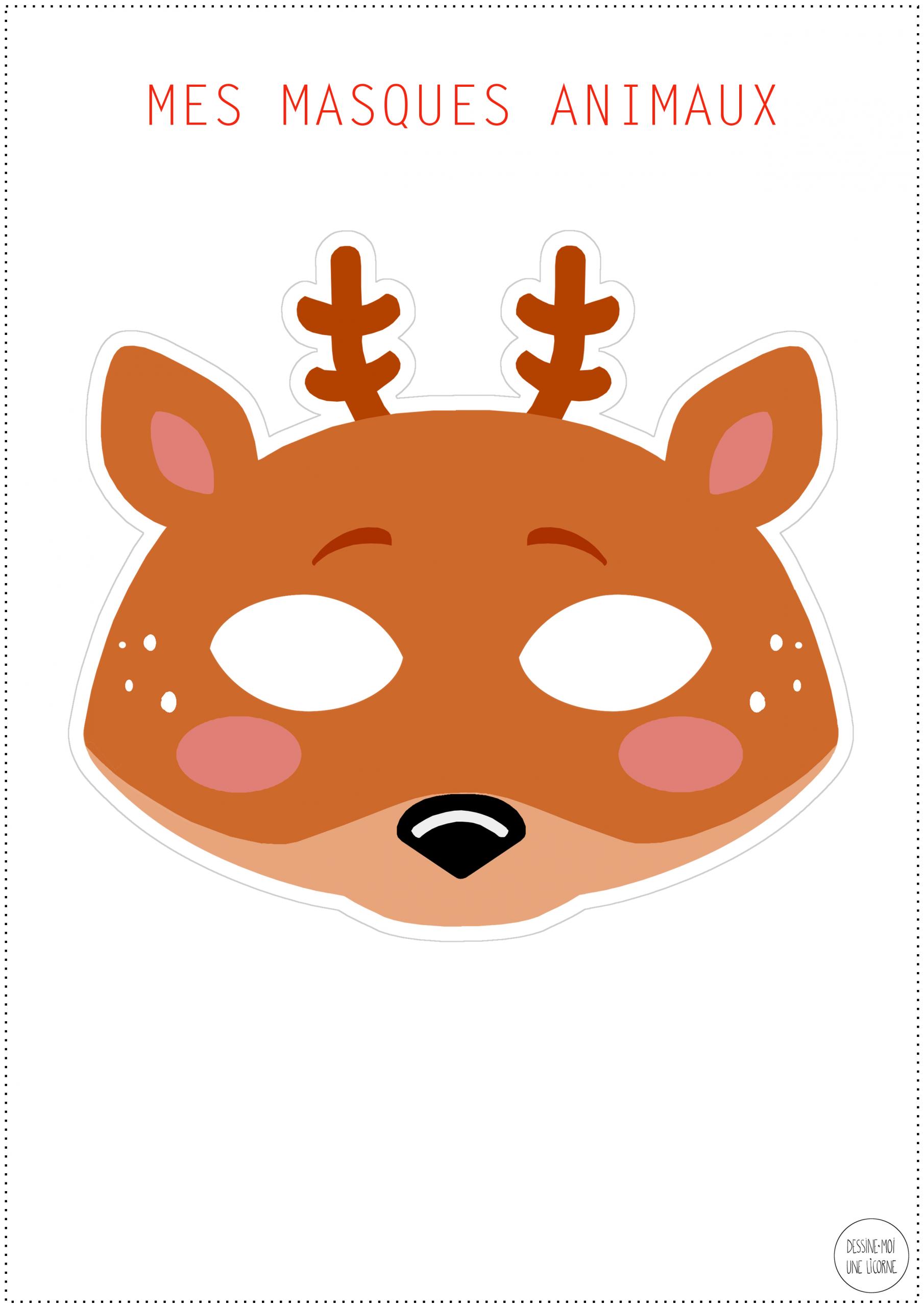 Masque Renard À Imprimer concernant Masques Animaux À Imprimer