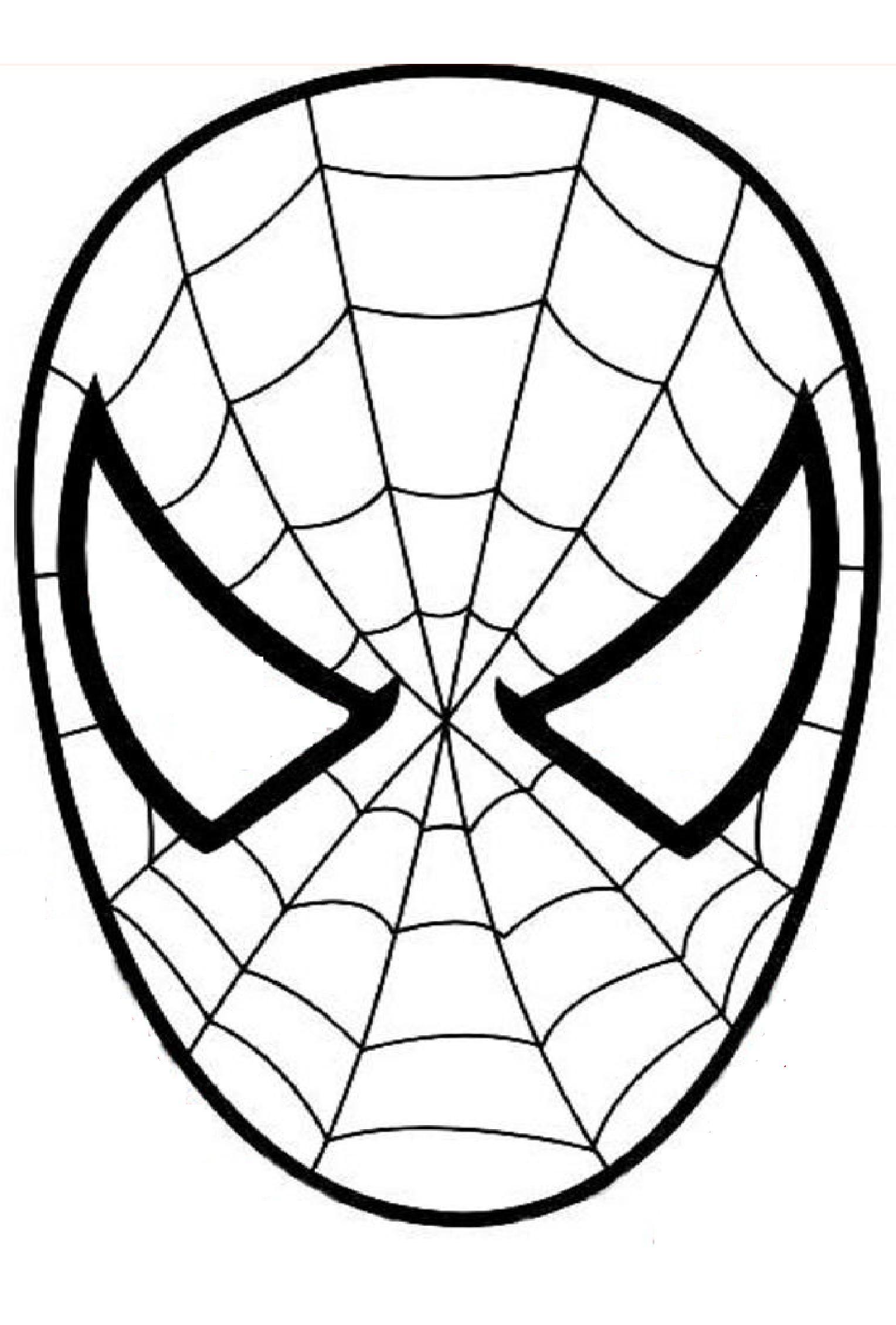 Masque Spiderman A Colorier Découpage A Imprimer intérieur Tete Spiderman A Imprimer