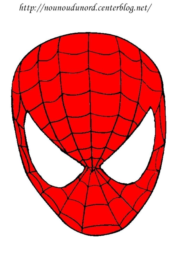 Masque Spiderman À Imprimer | Masque A Imprimer, Masque Et destiné Tete Spiderman A Imprimer