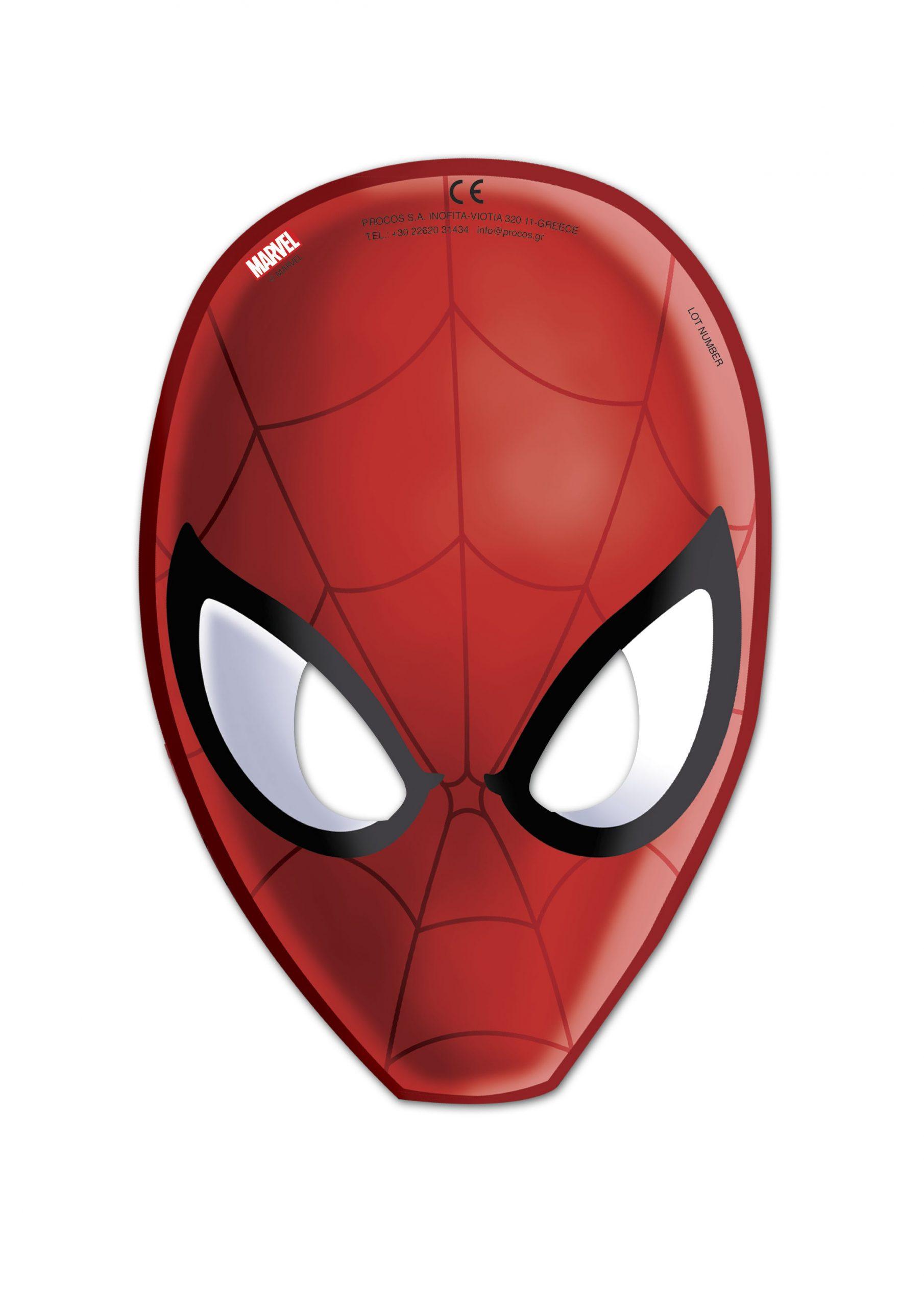Masque Spiderman avec Masque Spiderman A Imprimer