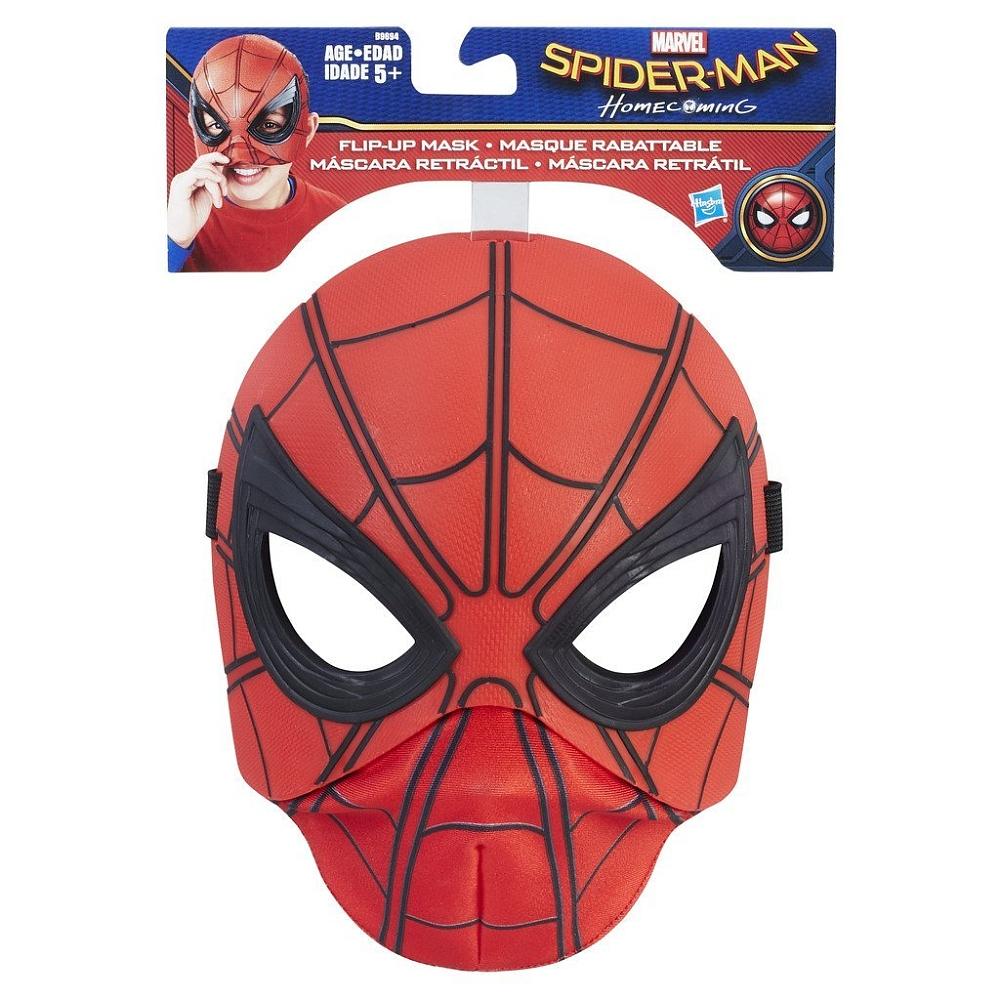 Masque Spiderman Rabattable intérieur Masque Spiderman A Imprimer