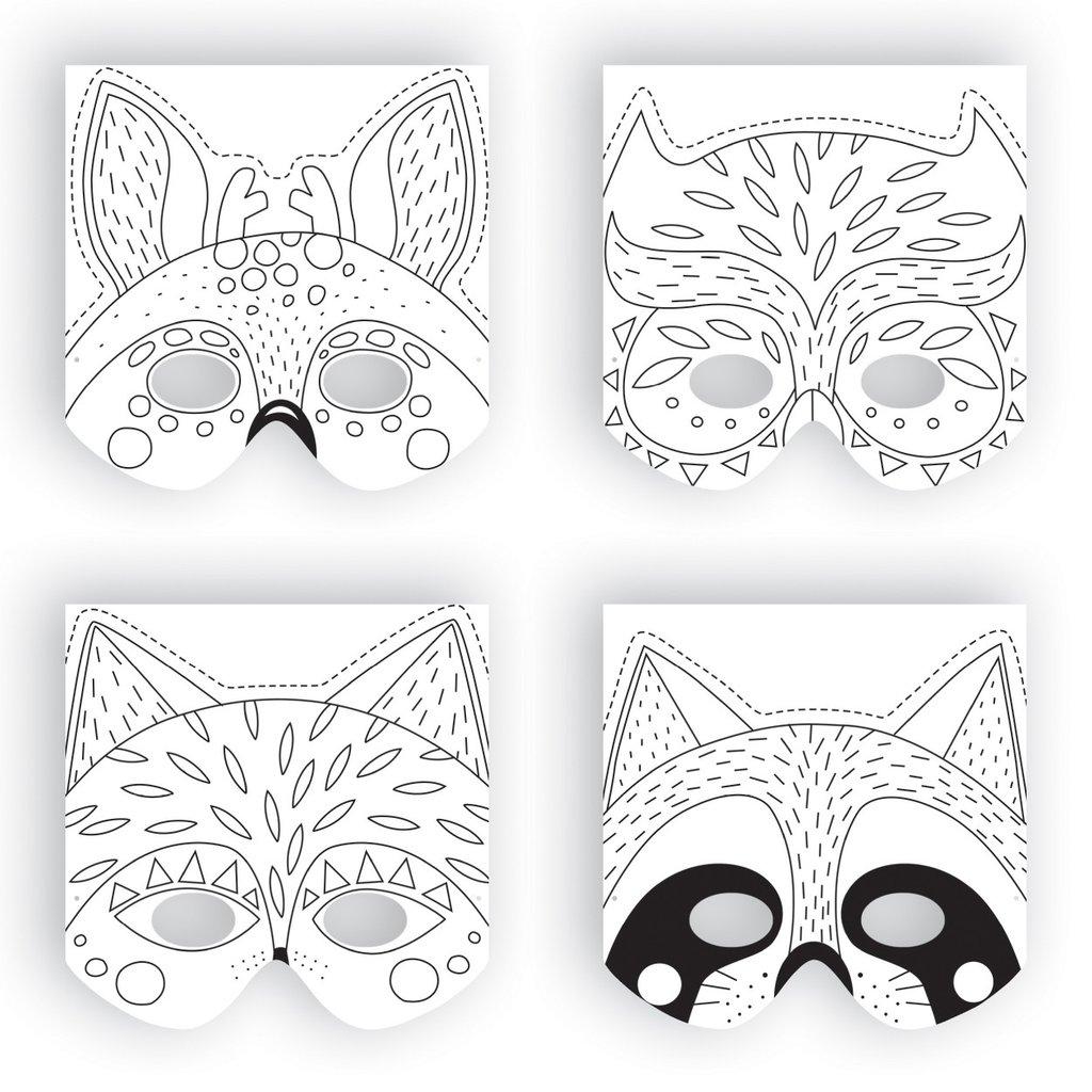 Masques À Fabriquer - Animaux De La Forêt - Little Marmaille à Masque À Imprimer Animaux