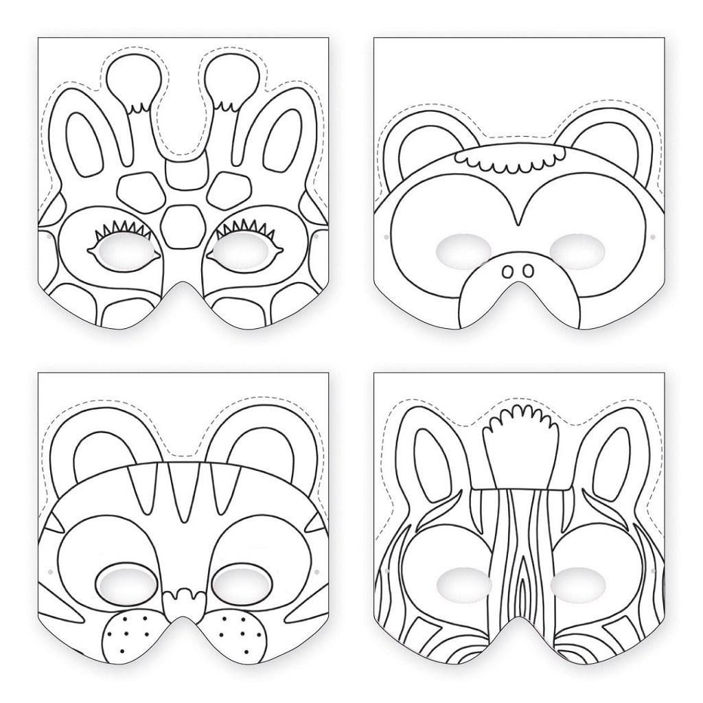 Masques À Fabriquer - Animaux De La Jungle - Little Marmaille à Masques Animaux À Imprimer