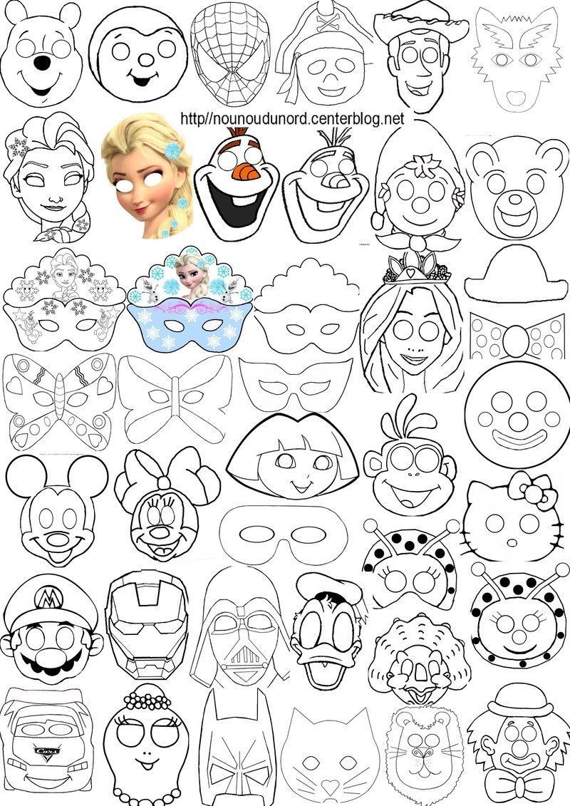 Masques À Imprimer Pour Les Enfants | Masque A Imprimer concernant Masque Enfant A Colorier