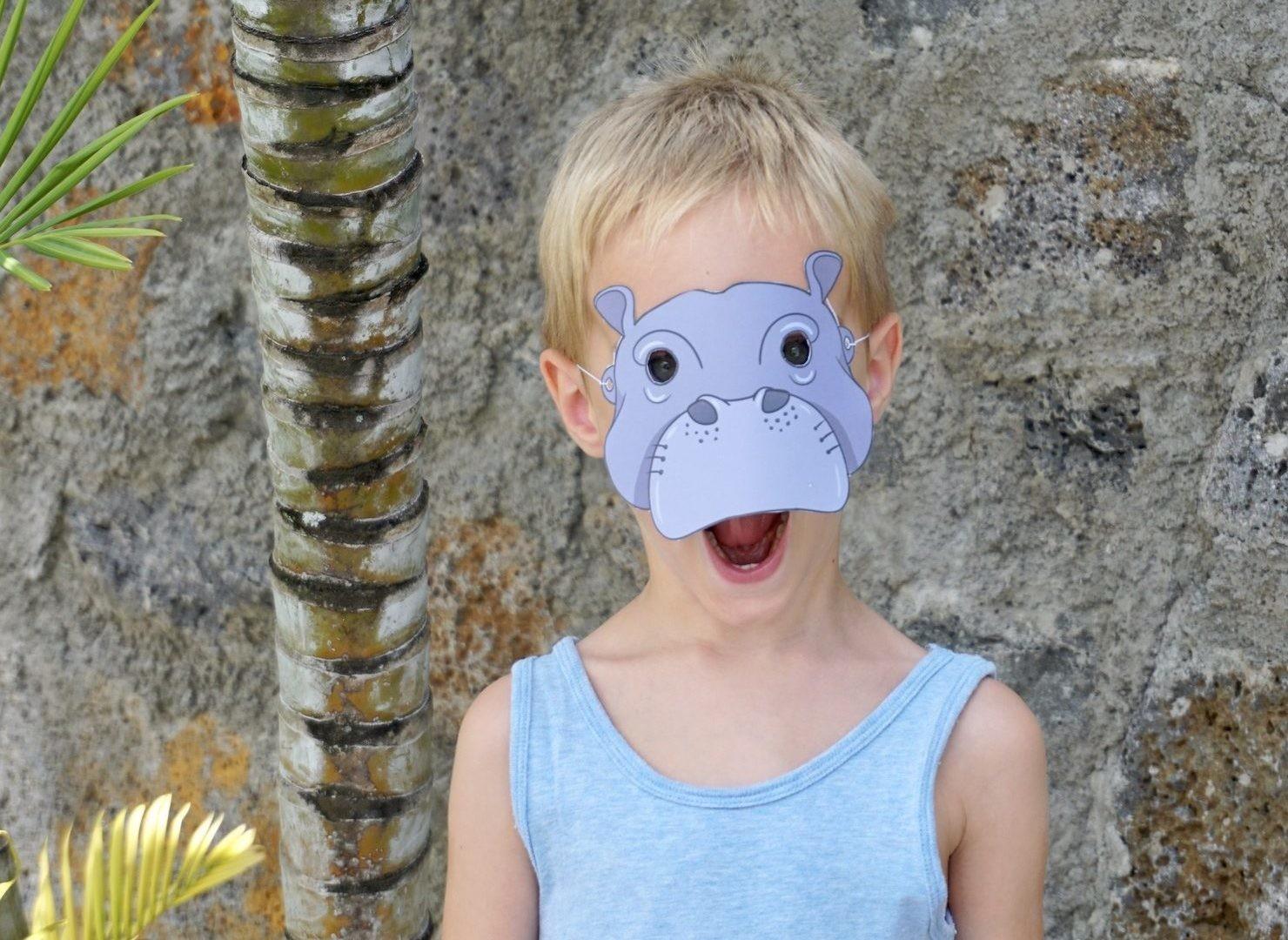 Masques Animaux Sauvages intérieur Masques Animaux À Imprimer