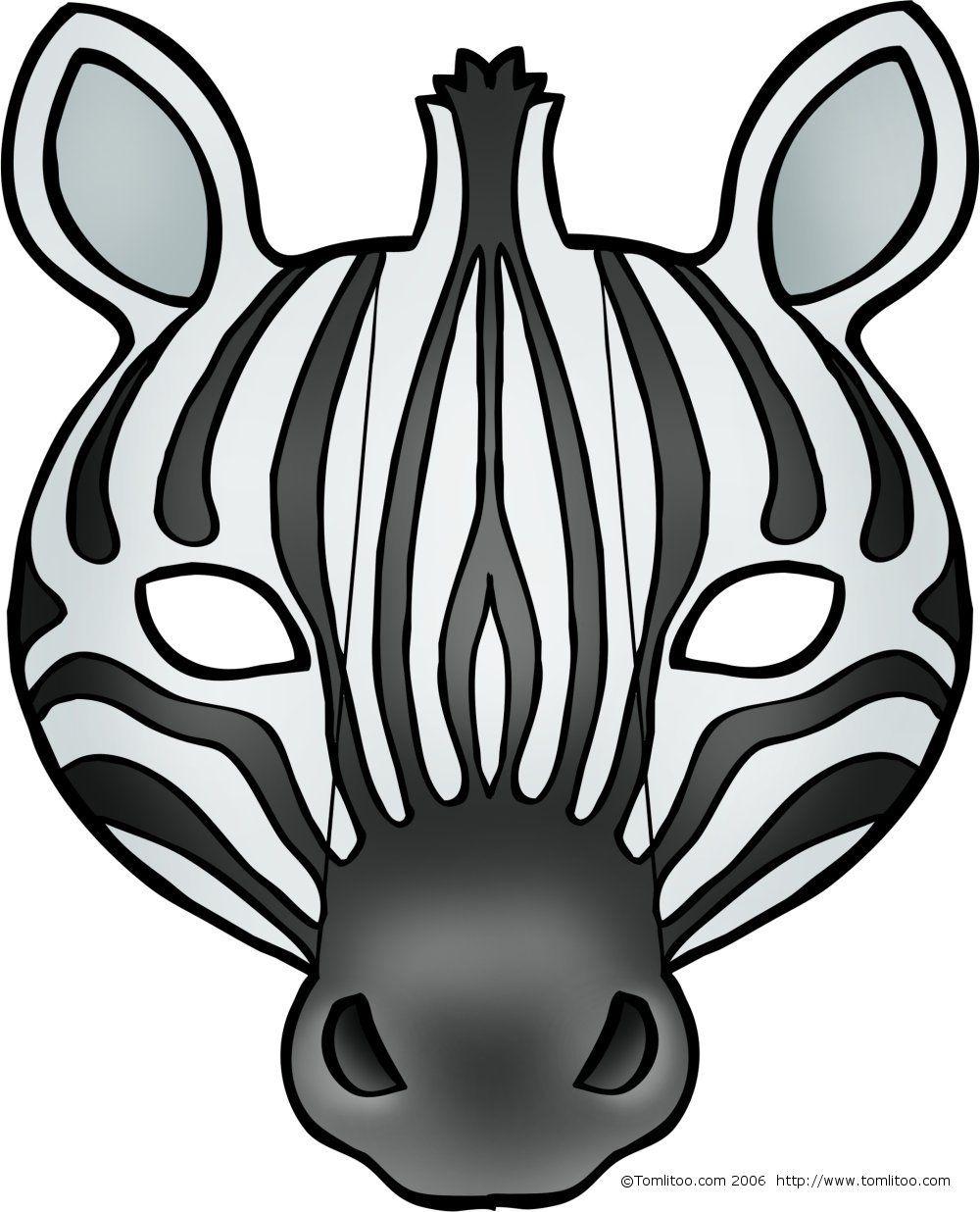 Masques D'animaux À Imprimer Et Colorier Pour Les Enfants encequiconcerne Masque À Imprimer Animaux