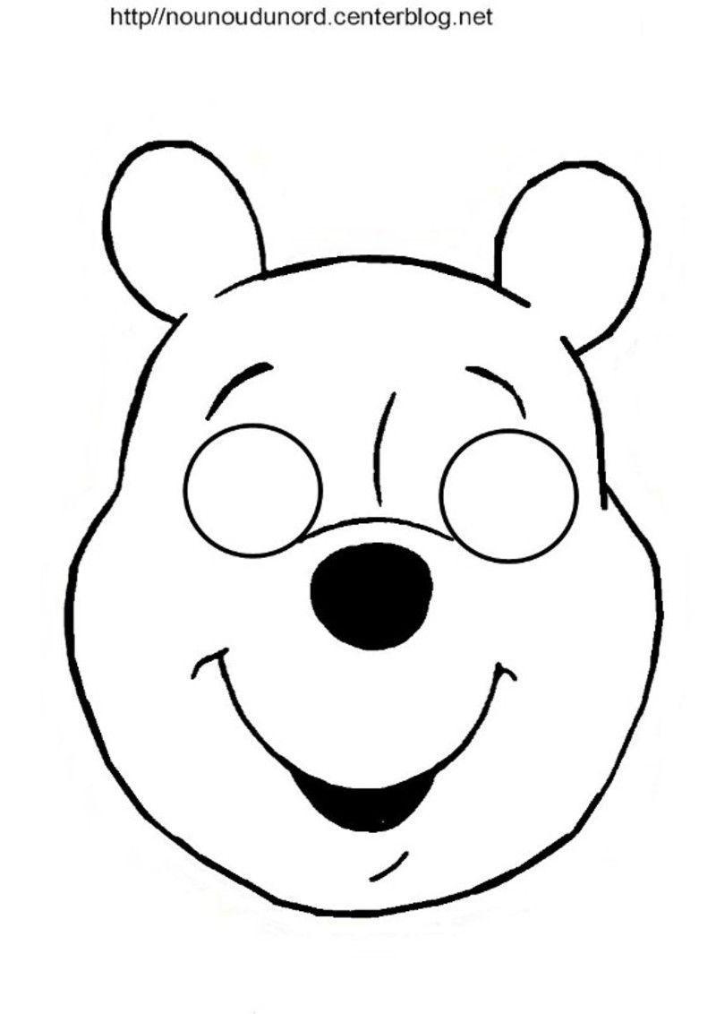 Masques Ours, Petit Ours Brun Et Winnie L'ourson | Masque tout Masque Loup A Colorier