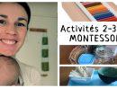 Matériel & Activités Montessori 2-3 Ans: Ma Sélection ! dedans Activité Montessori 3 Ans