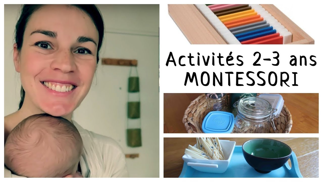 Matériel & Activités Montessori 2-3 Ans: Ma Sélection ! pour Activité 2 3 Ans