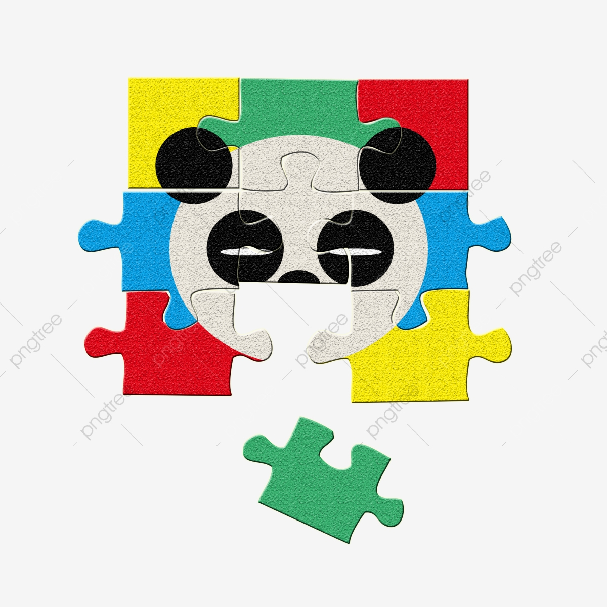 Matériel De Puzzle Mignon Panda Couleur Pour Jouets Enfants intérieur Puzzle Gratuit Enfant
