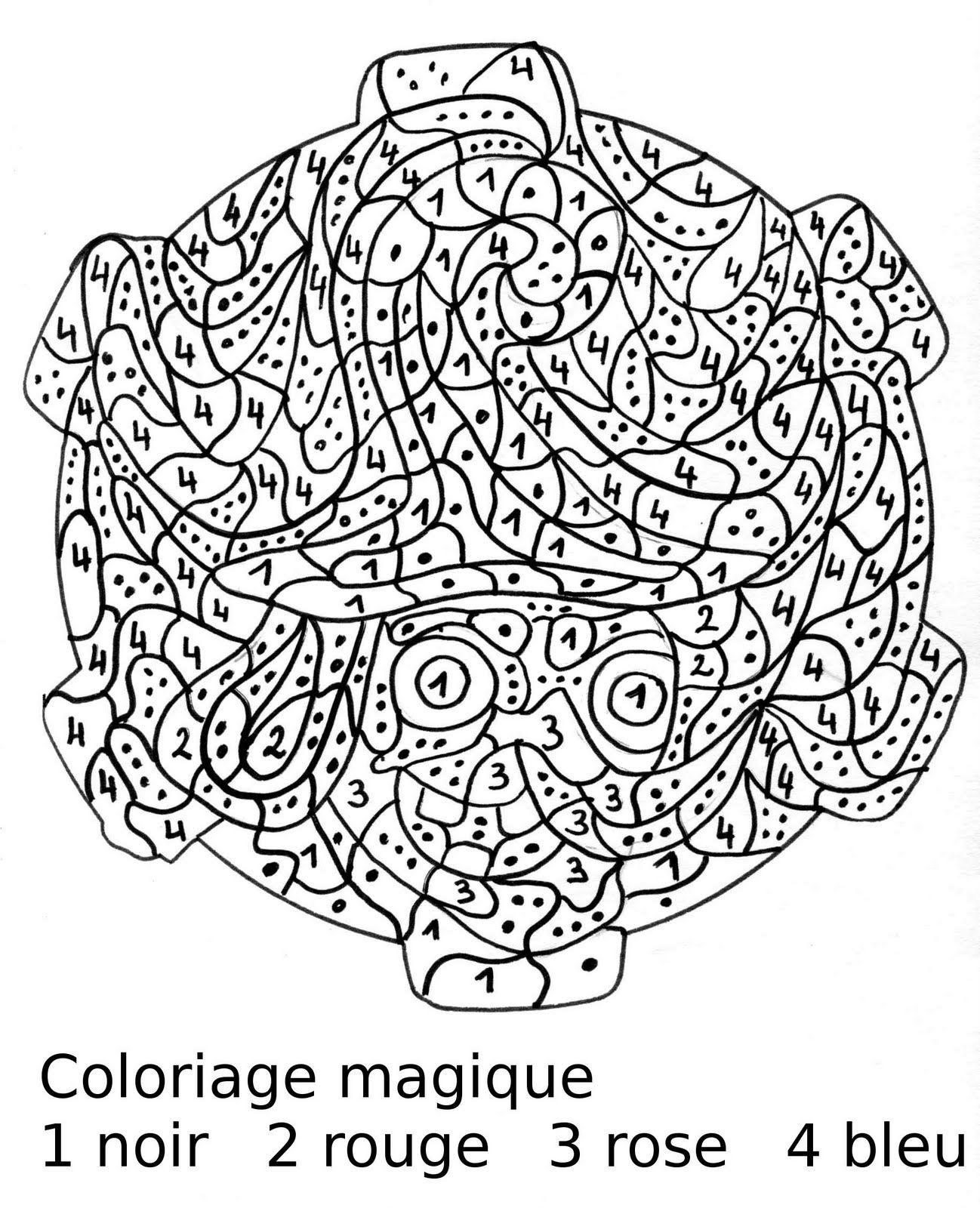 Maternelle: Coloriage Magique : Portrait De Sorcière Au serapportantà Coloriage Magique Dur
