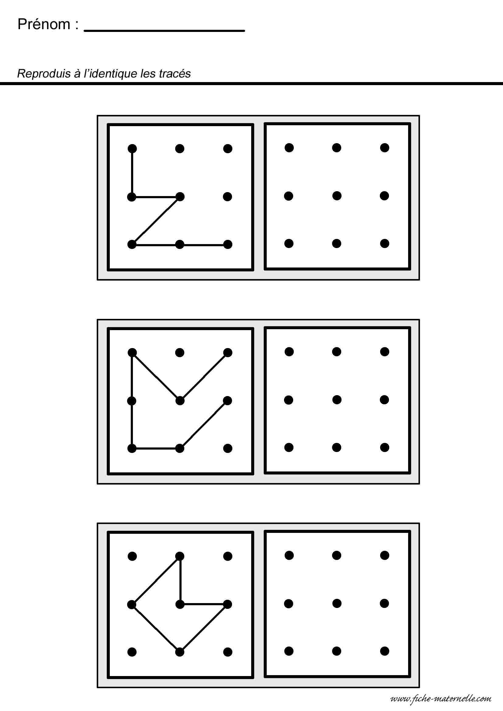 Maternelle Mathématiques Et Géométrie encequiconcerne Reproduire Une Figure