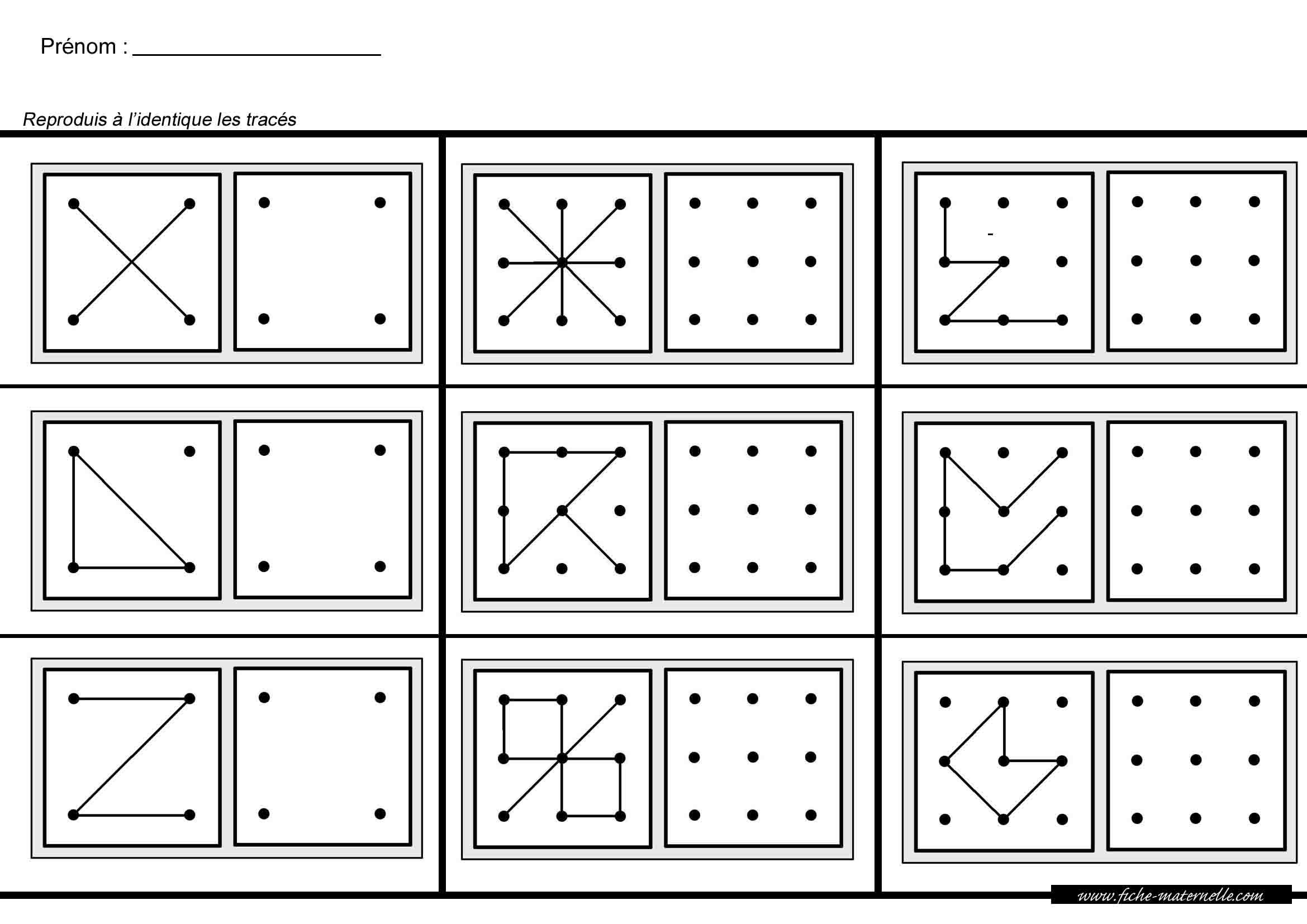 Maternelle Mathématiques Et Géométrie pour Reproduire Une Figure