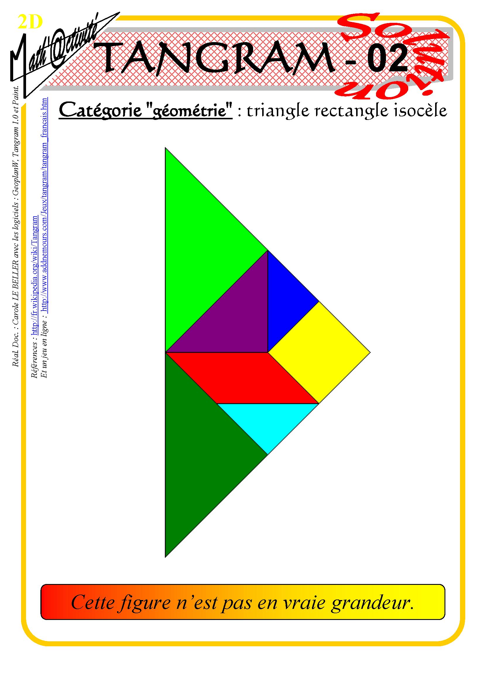 Math'@ctivité 2D : Tangram dedans Tangram En Ligne