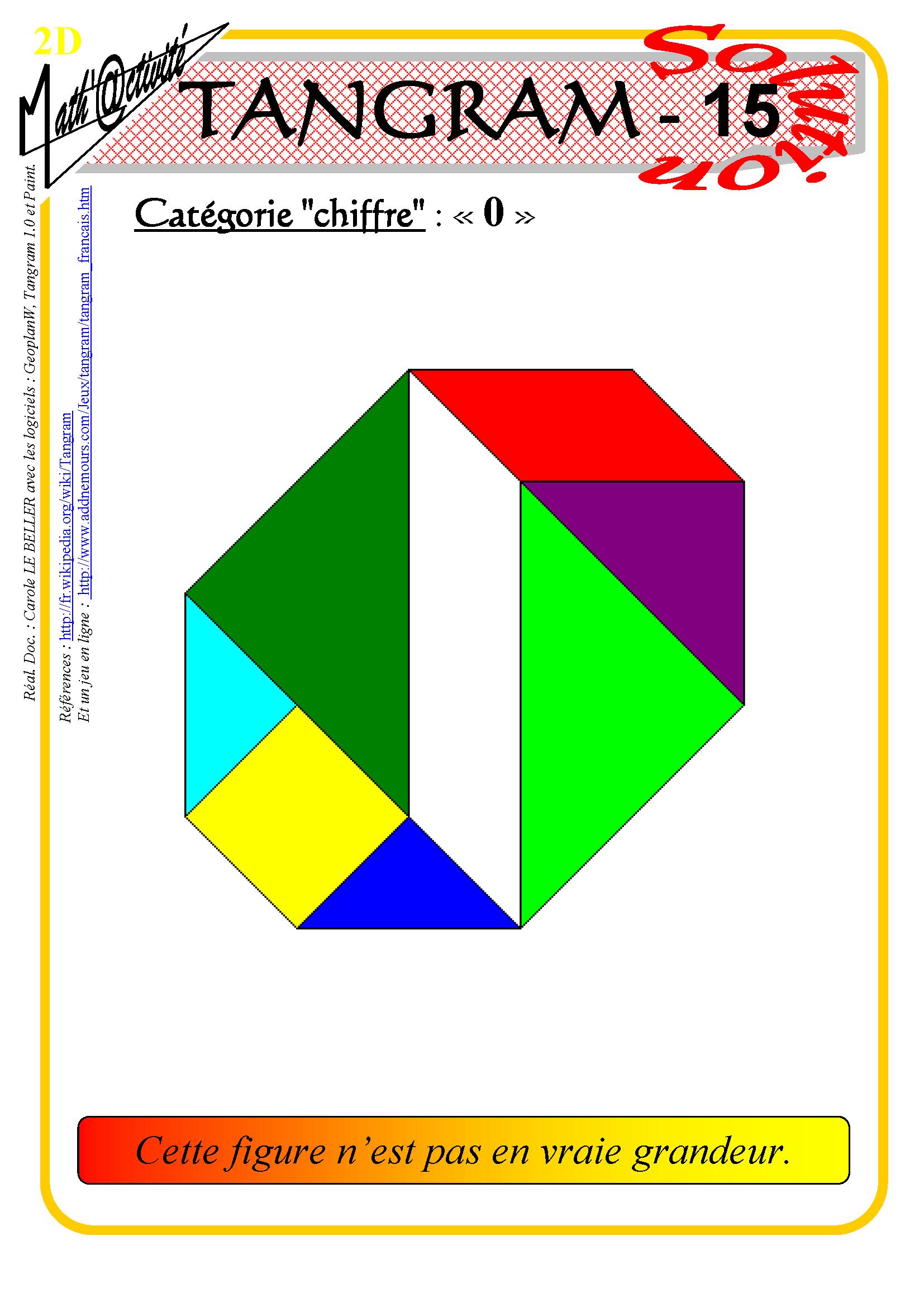 Math'@ctivité 2D : Tangram destiné Jeu De Tangram À Imprimer