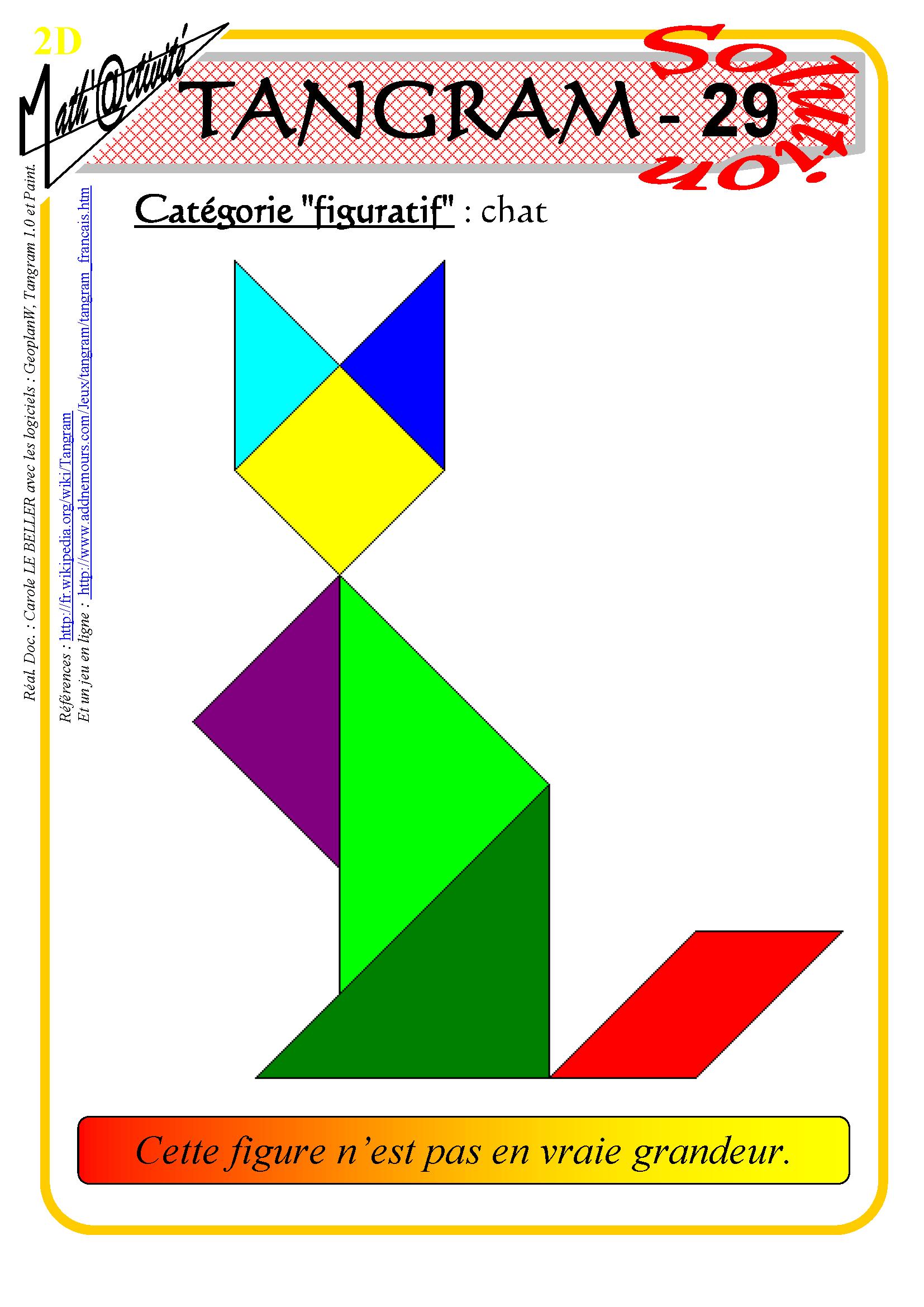 Math'@ctivité 2D : Tangram intérieur Tangram En Ligne