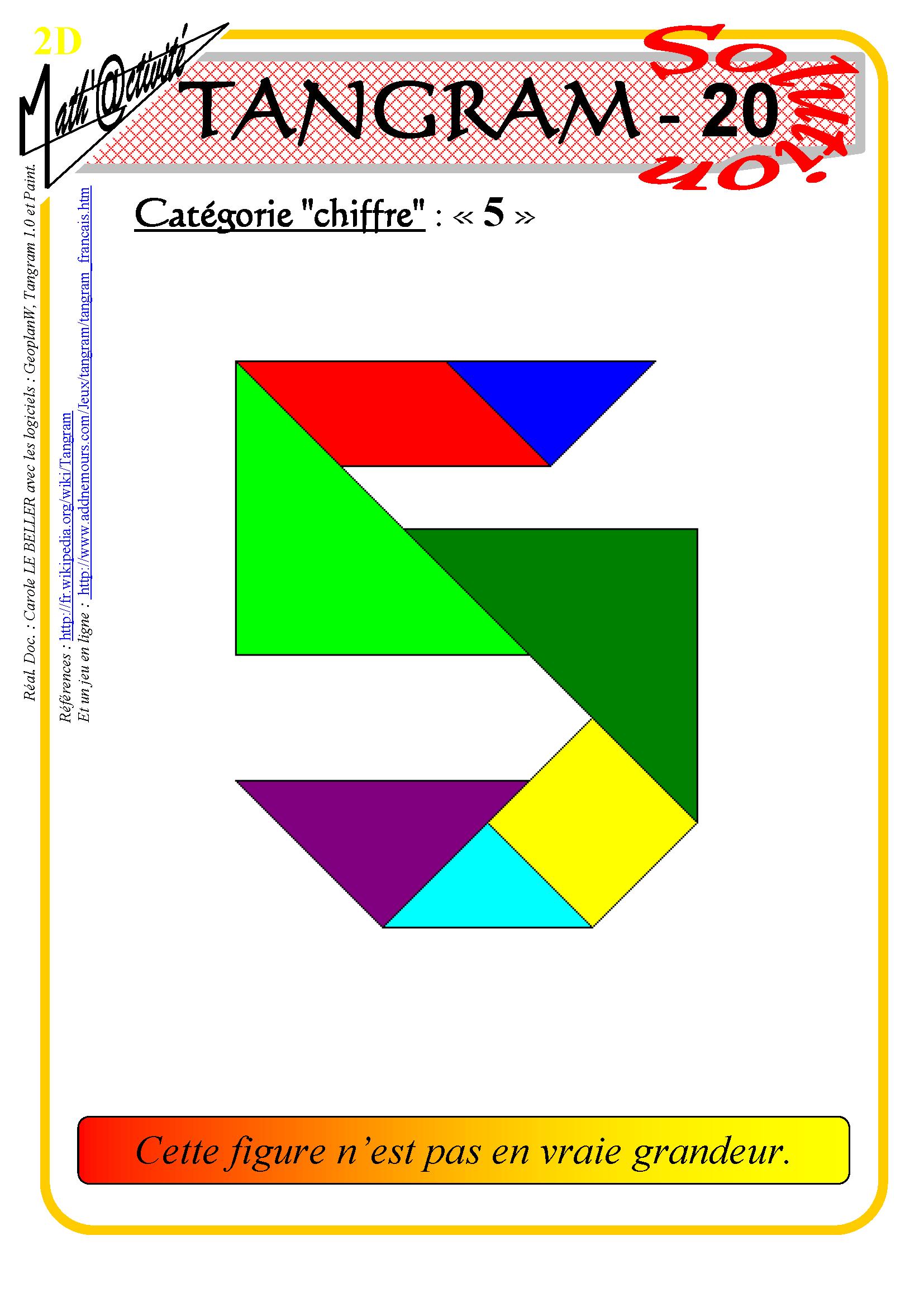 Math'@ctivité 2D : Tangram serapportantà Tangram À Imprimer Pdf