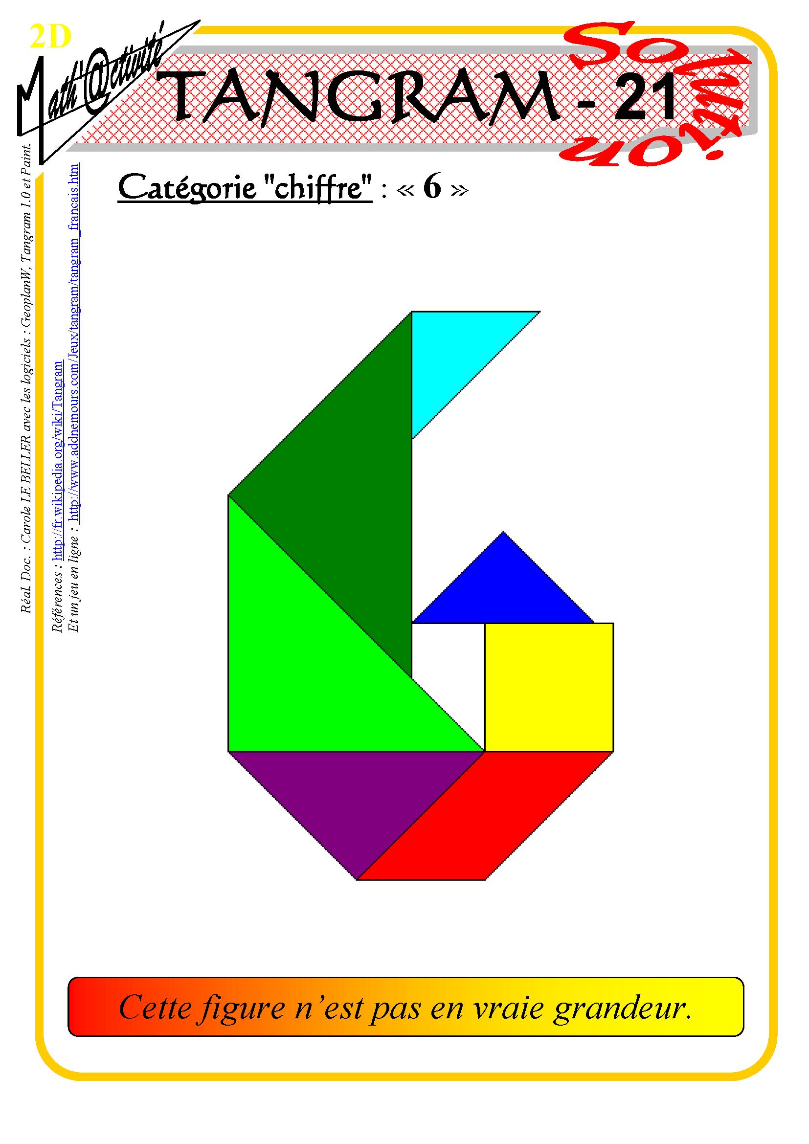 Math'@ctivité 2D : Tangram tout Tangram À Imprimer Pdf