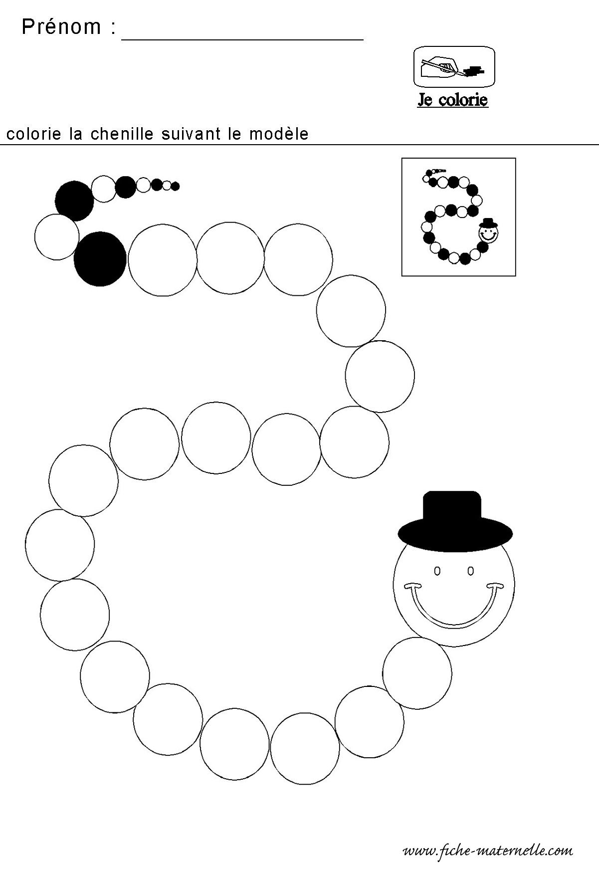 Mathematiques Maternelle Algorithme De La Chenille concernant Moyen Section Maternelle Exercice