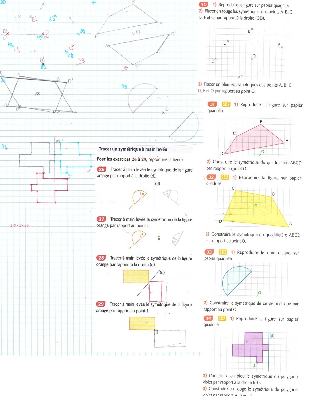 Maths Ce1 - Ecole À La Maison 40 intérieur Exercice Symétrie Ce1