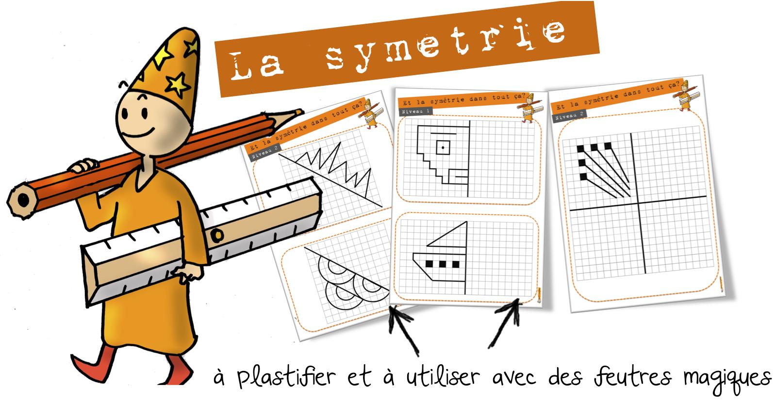 Maths Cycle3 : La Symétrie – Entrainement | Bout De Gomme concernant Symétrie Cm1 Exercices