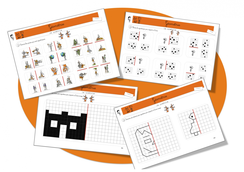 Maths: Géométrie: La Symétrie | Bout De Gomme encequiconcerne Exercice Symétrie Ce1