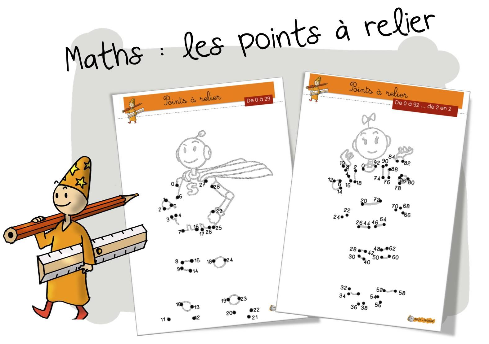 Maths : Les Points À Relier De 0 À 99 | Bout De Gomme destiné Relier Les Points De 1 À 30