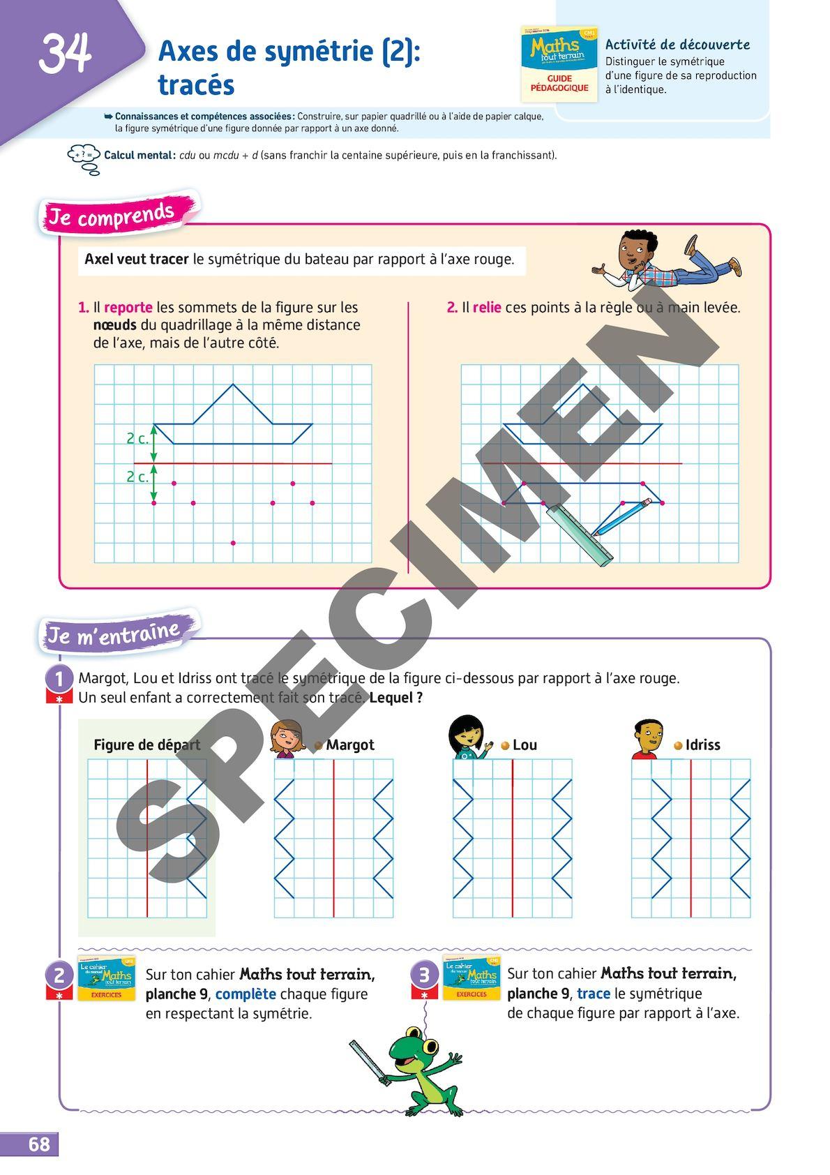 Maths Tout Terrain Cm1 - Calameo Downloader avec Reproduction De Figures Sur Quadrillage