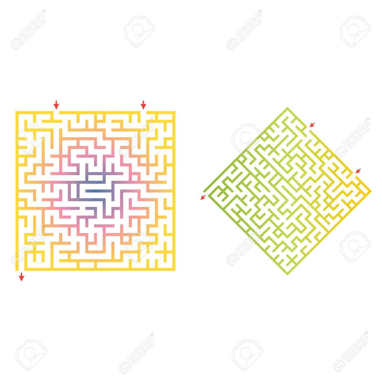 Maze Jeu Pour Les Enfants De Forme Géométrique. Puzzle Pour Enfants D'âge  Préscolaire. Rebus Ou Un Questionnaire Pour L'école à Jeu De Forme Géométrique