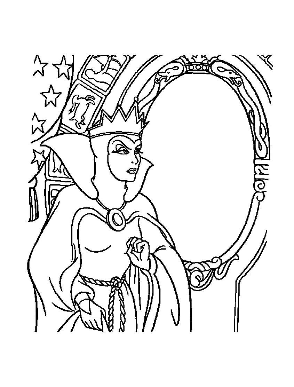 Mechante Reine Blanche Neige 13 - Coloriage Blanche Neige Et concernant Blanche Neige A Colorier