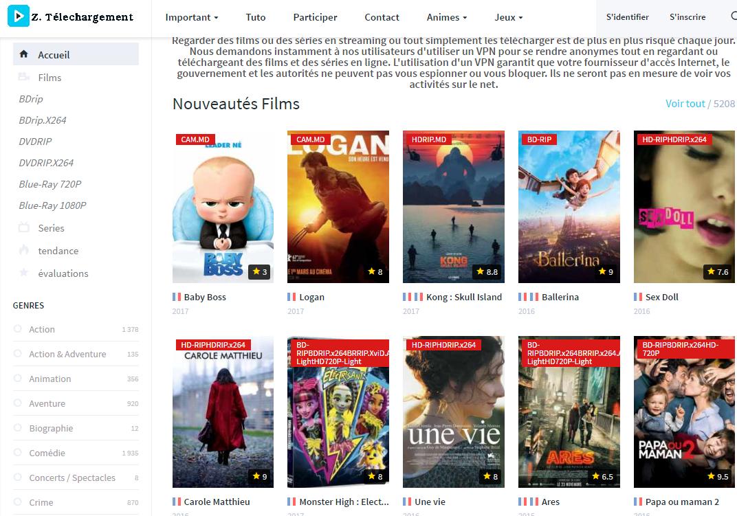 Meilleurs Sites De Téléchargement Gratuits Films Et Séries 2020 tout Jeux Gratuits En Français Sans Inscription Et Sans Téléchargement