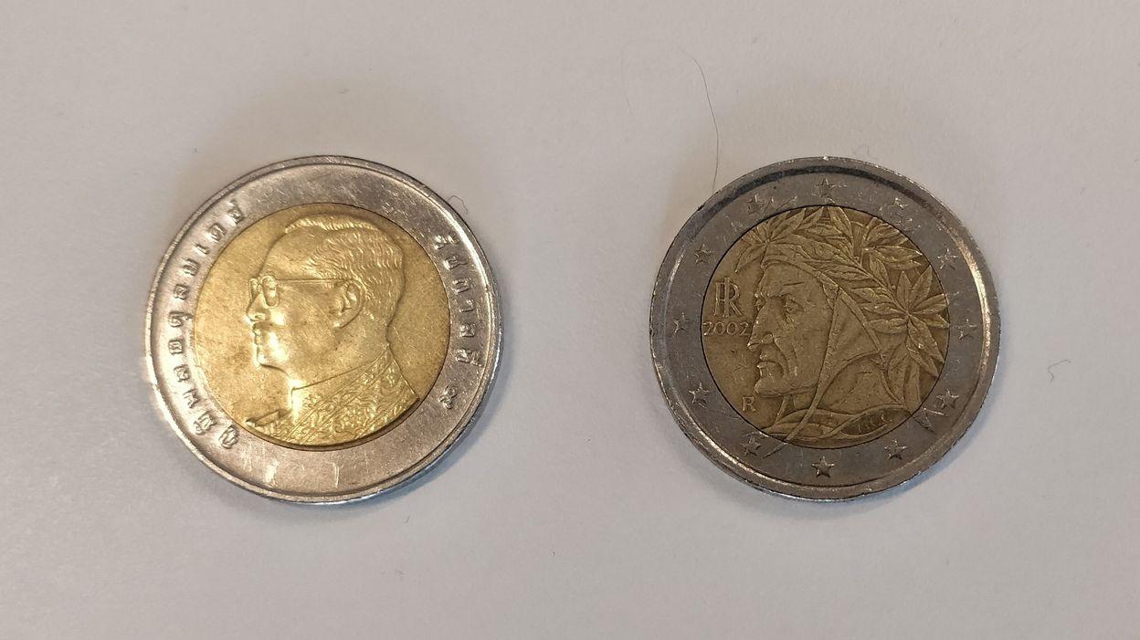 Même Taille, Même Couleur Que Celle De Deux Euros… Méfiez intérieur Fausses Pieces Euros
