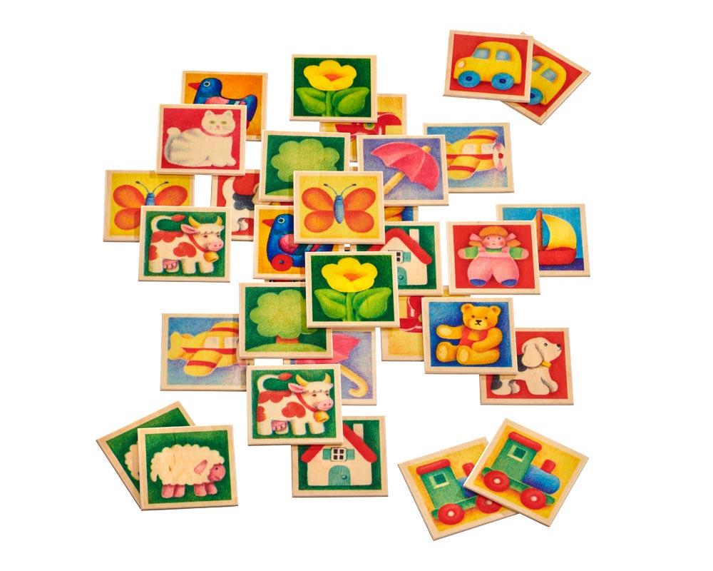 Mémo Multicoloré - Jouets Bois Selecta destiné Jeux Memoire Enfant