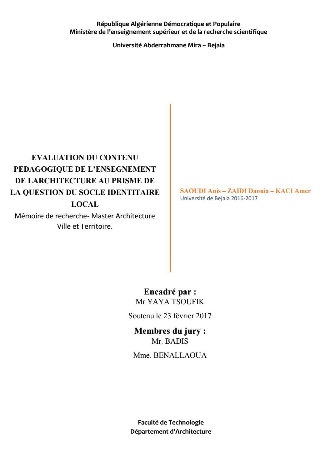 Memoire De Recherche Saoudi Anis By Saoudi Anis - Issuu intérieur Mot Croiser
