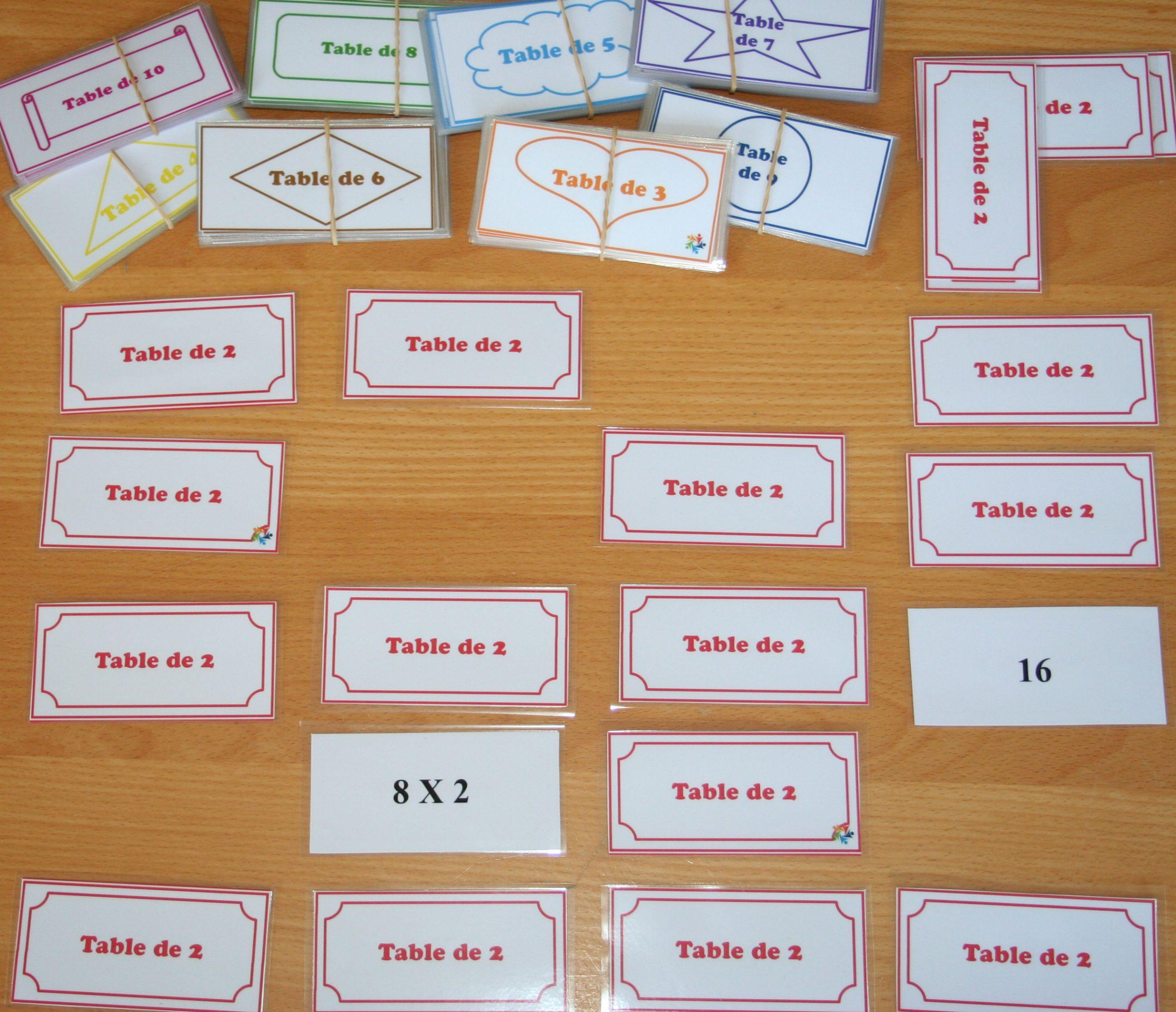 Mémory : Tables De Multiplication - Document Gratuit encequiconcerne Tables De Multiplication Jeux À Imprimer