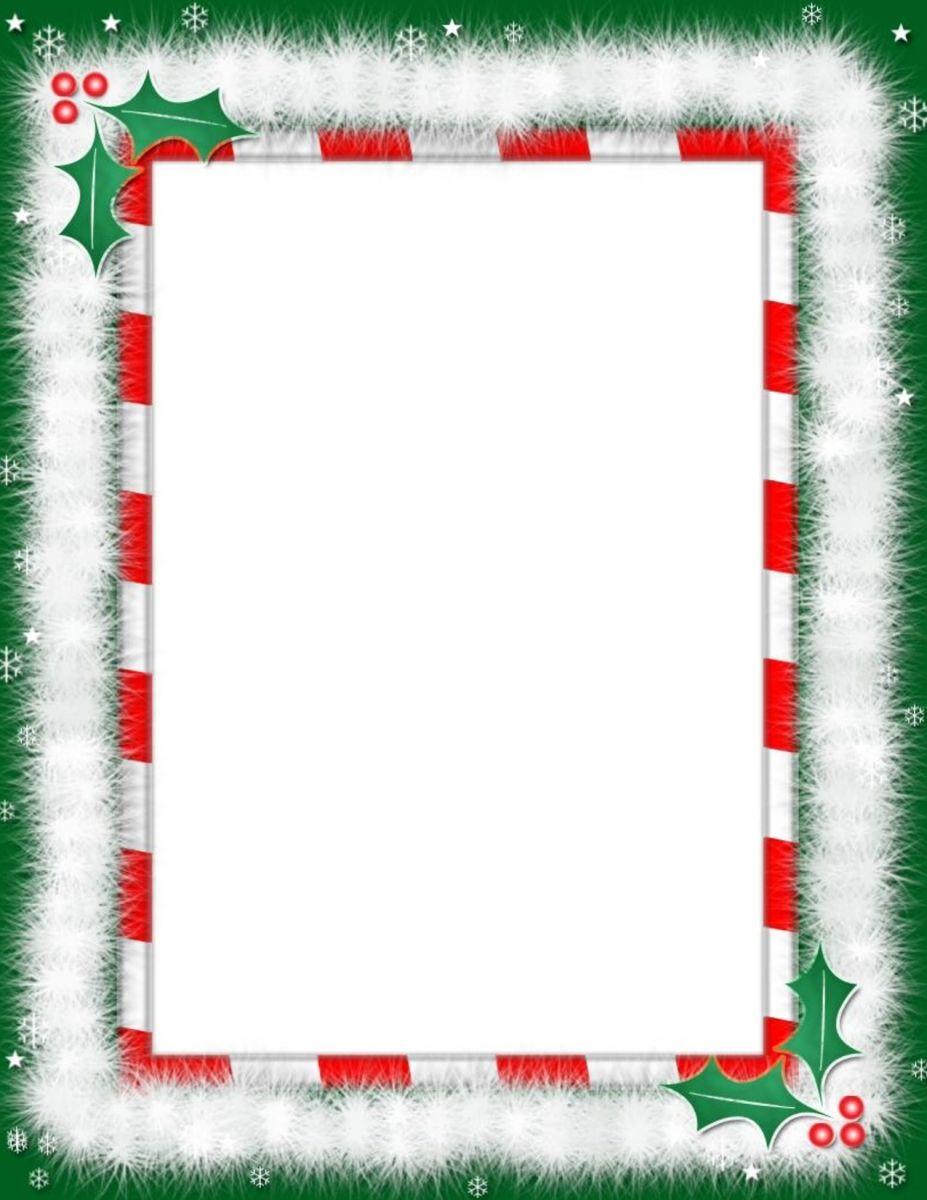 Menu De Noel | Cartes De Noël À Imprimer, Cadres De Noël intérieur Papier Lettre De Noel