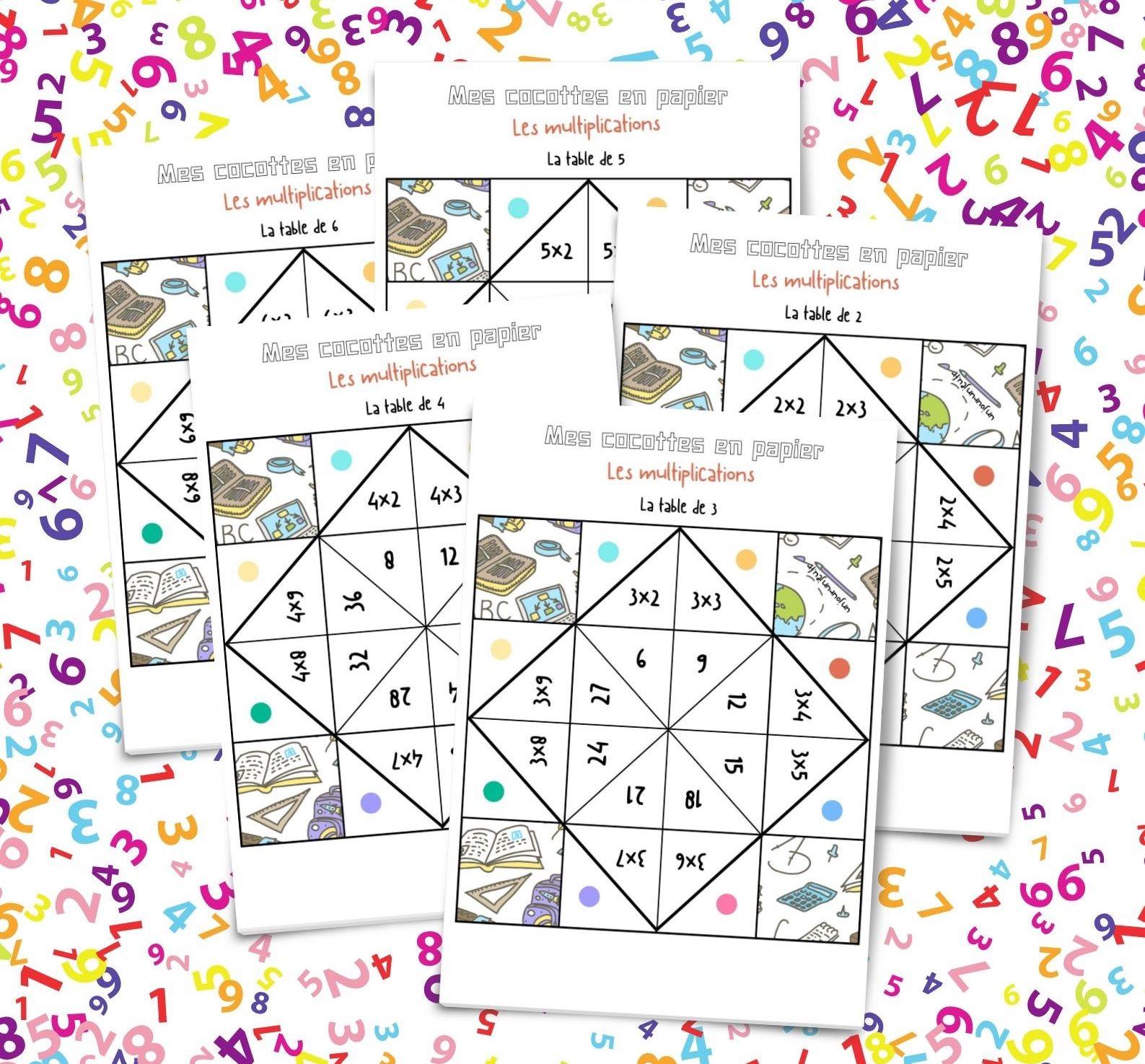 Mes Cocottes En Papier Pour Apprendre À Multiplier - Un Jour encequiconcerne Tables De Multiplication Jeux À Imprimer