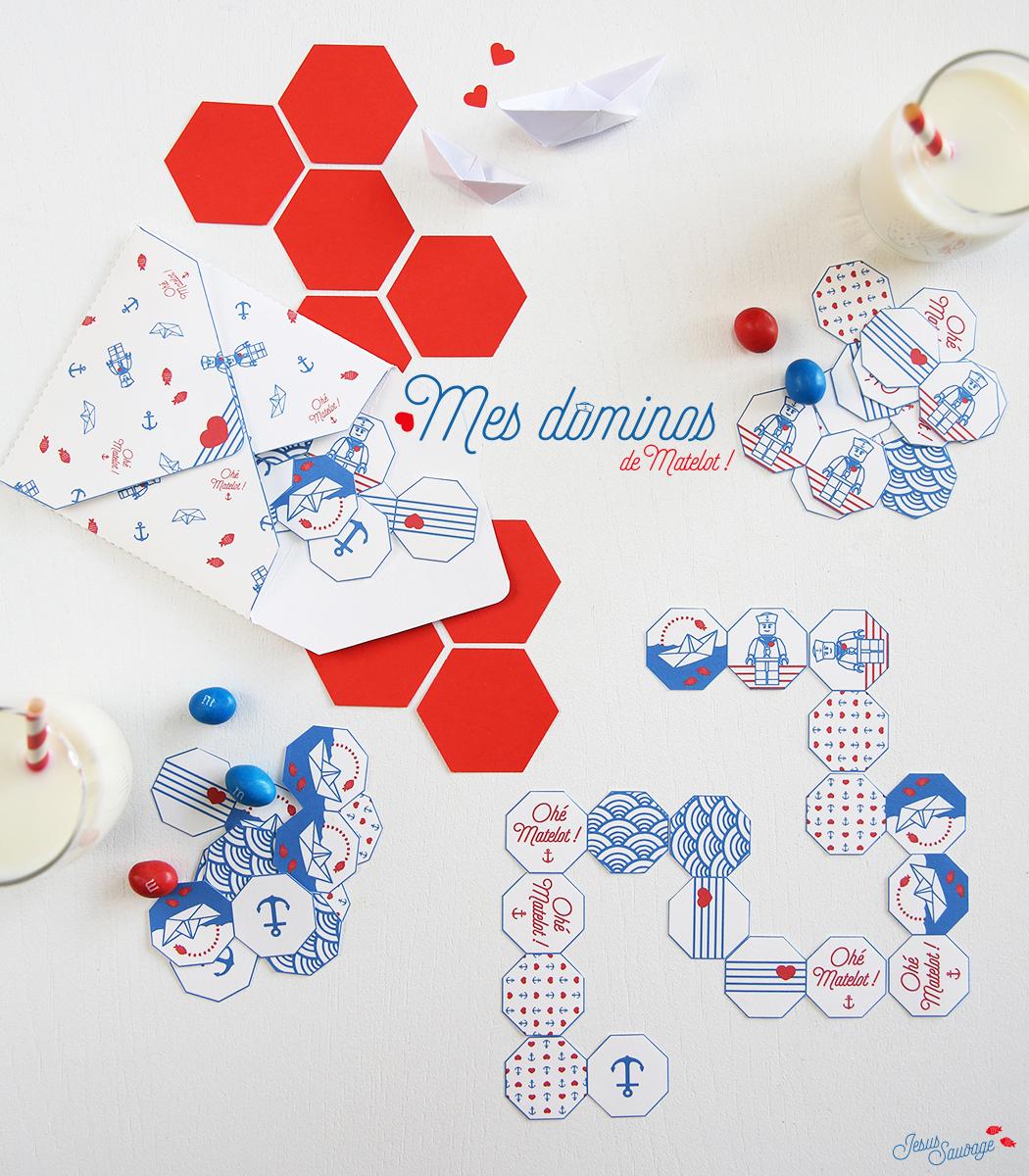 Mes Dominos De Matelot Et Le Kit Pour Vos Vacances tout Dominos À Imprimer