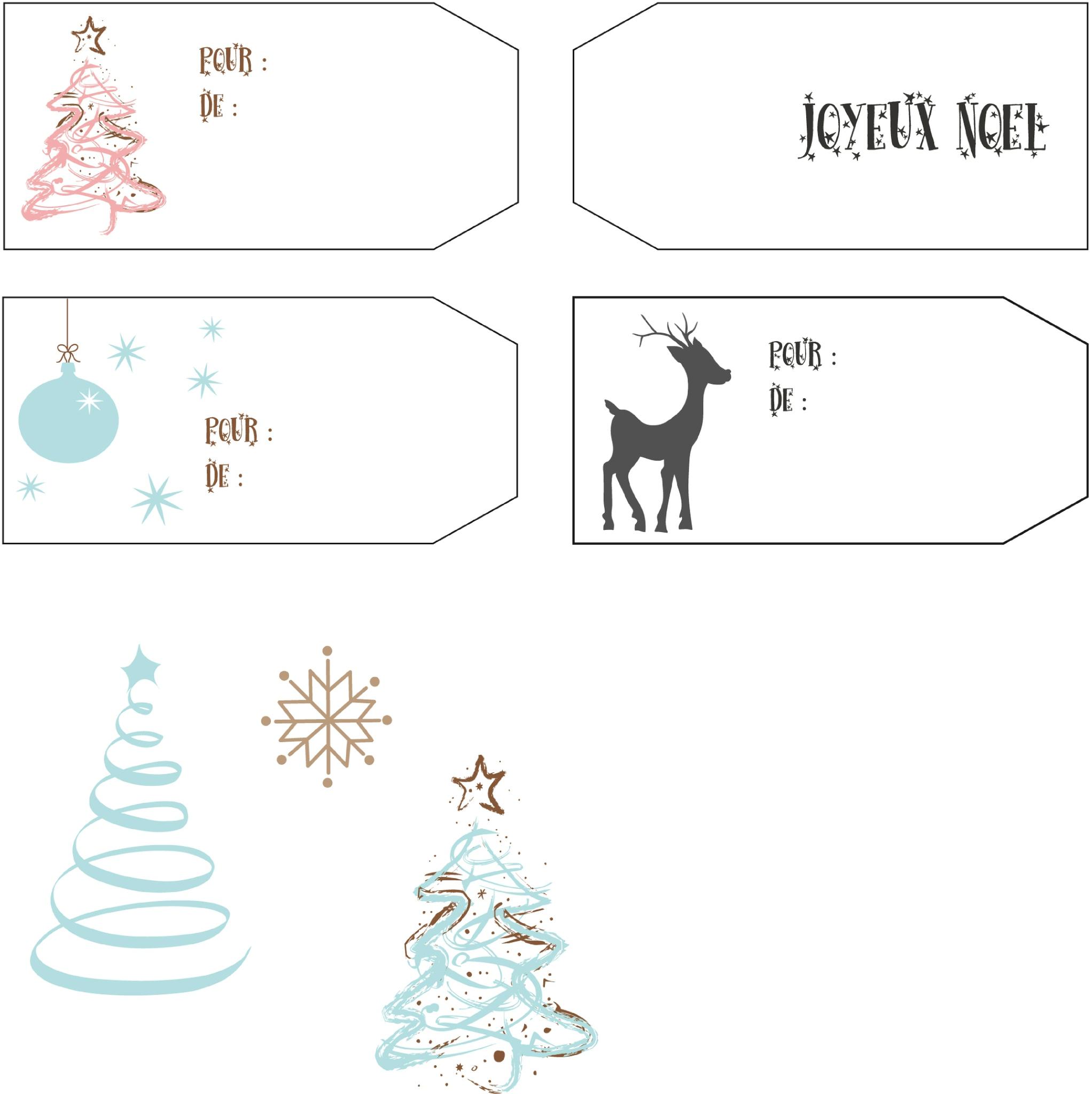 Mes Étiquettes De Noël Pour Vous ! - Des P'tites Creations dedans Etiquette Noel A Imprimer