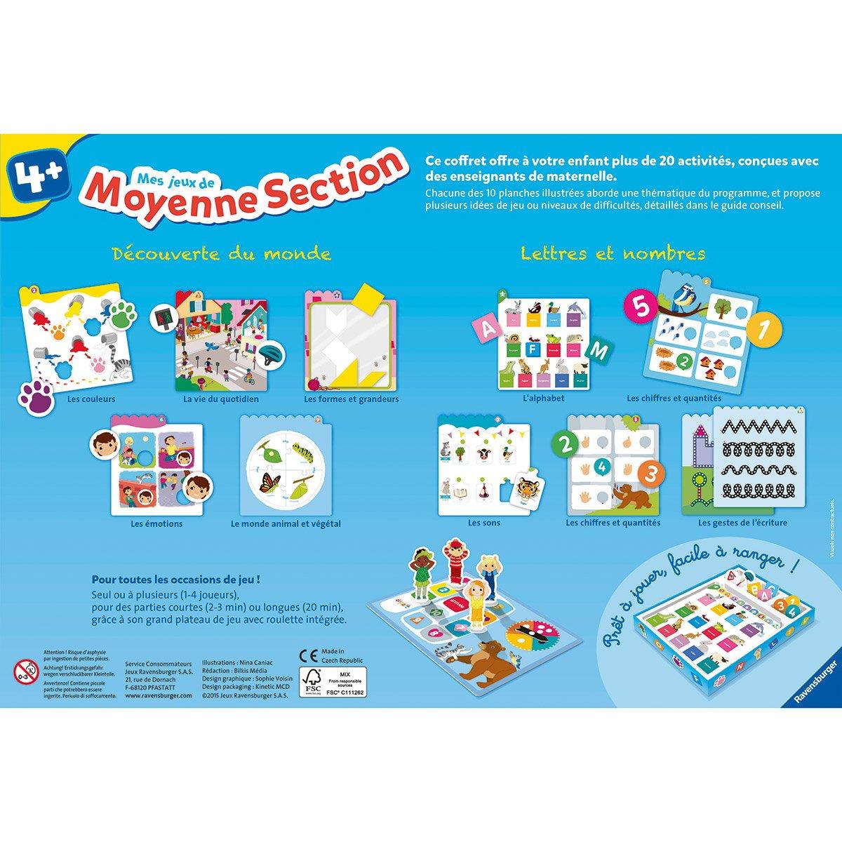 Mes Jeux De Moyenne Section - Jeux De Société Et Puzzles à Jeux Educatif Maternelle Moyenne Section