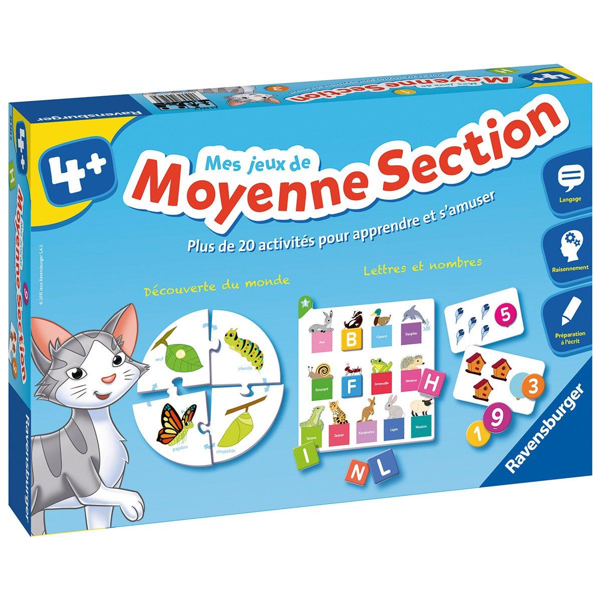 Mes Jeux De Moyenne Section - Jeux De Société Et Puzzles encequiconcerne Jeux Educatif Maternelle Moyenne Section