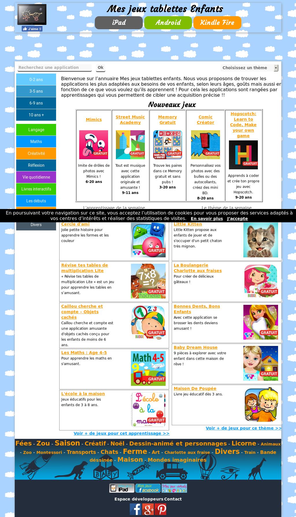 Mes Jeux Tablettes Enfants Competitors, Revenue And tout Jeux De Memory Gratuit