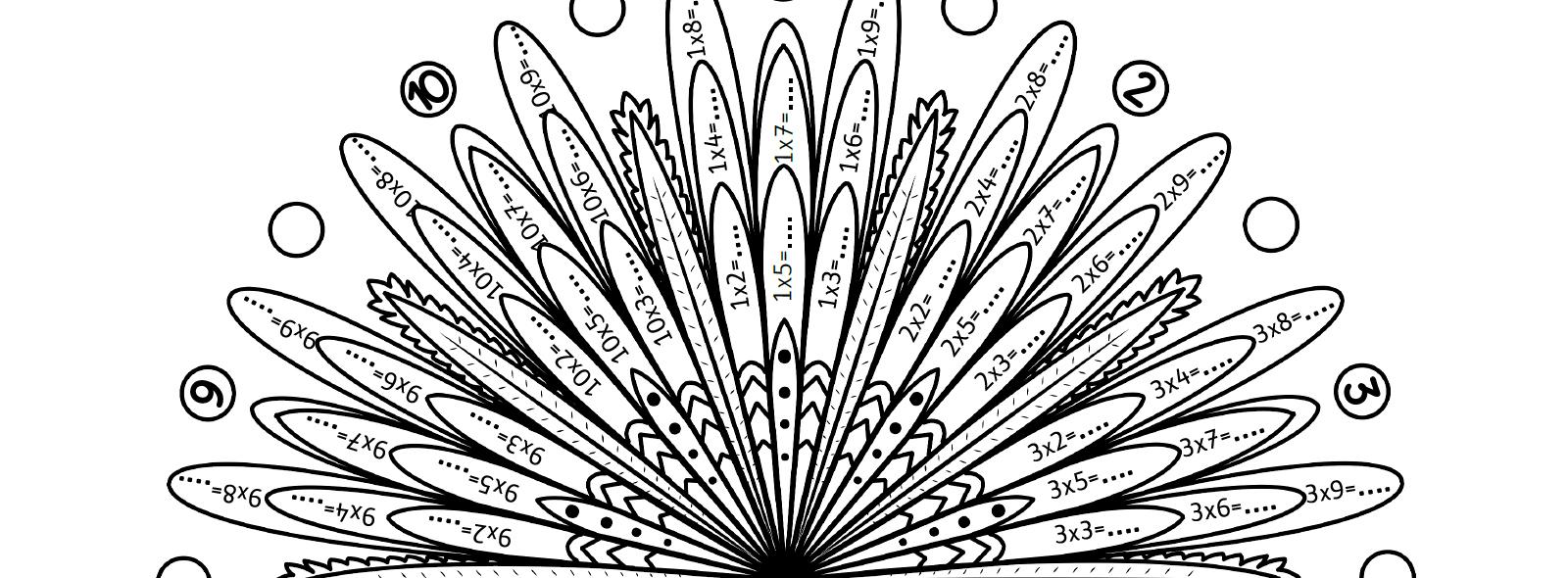 Mes Mandalas Des Tables De Multiplication - La Tanière De Kyban avec Jeux De Coloriage De Rosace