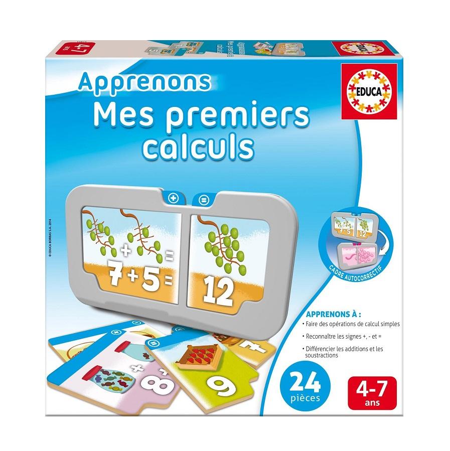 Mes Premiers Calculs Jeu Educa - Cavernedesjouets à Jeux Educatif 7 Ans