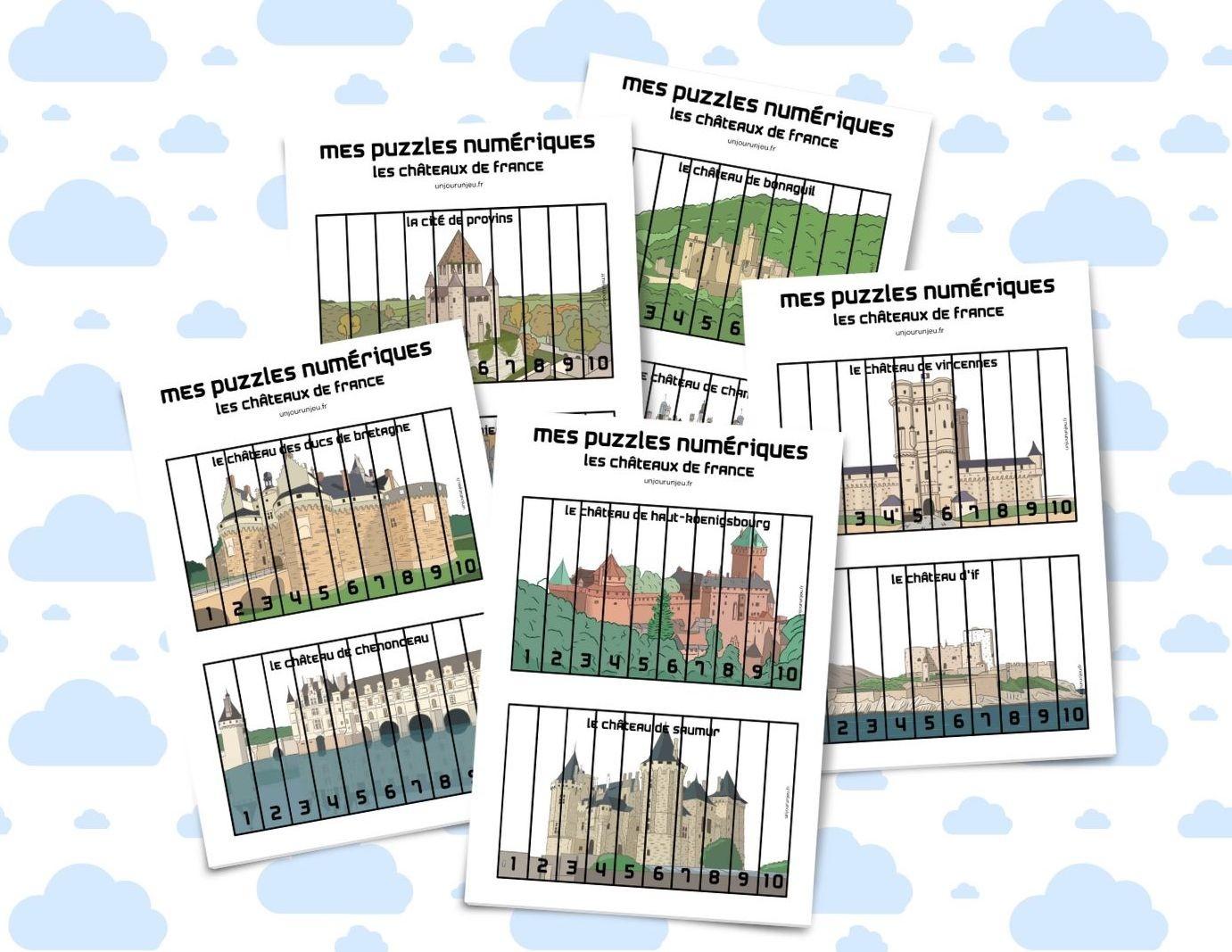 Mes Puzzles Numériques À Imprimer Gratuitement - Un Jour Un Jeu intérieur Jeux De Puzzle Pour Enfan Gratuit