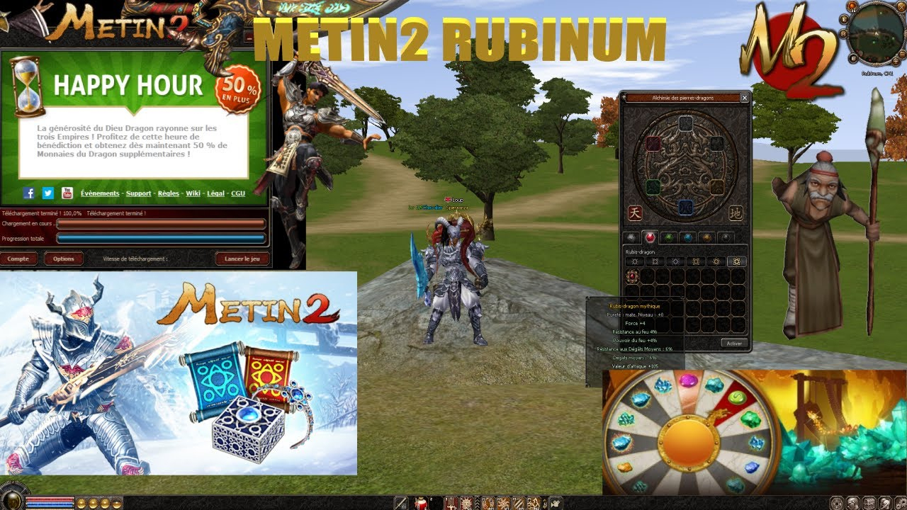 Metin2 Fr Rubinum - Craft Mythique Rubis Perf intérieur Jeu Force 4